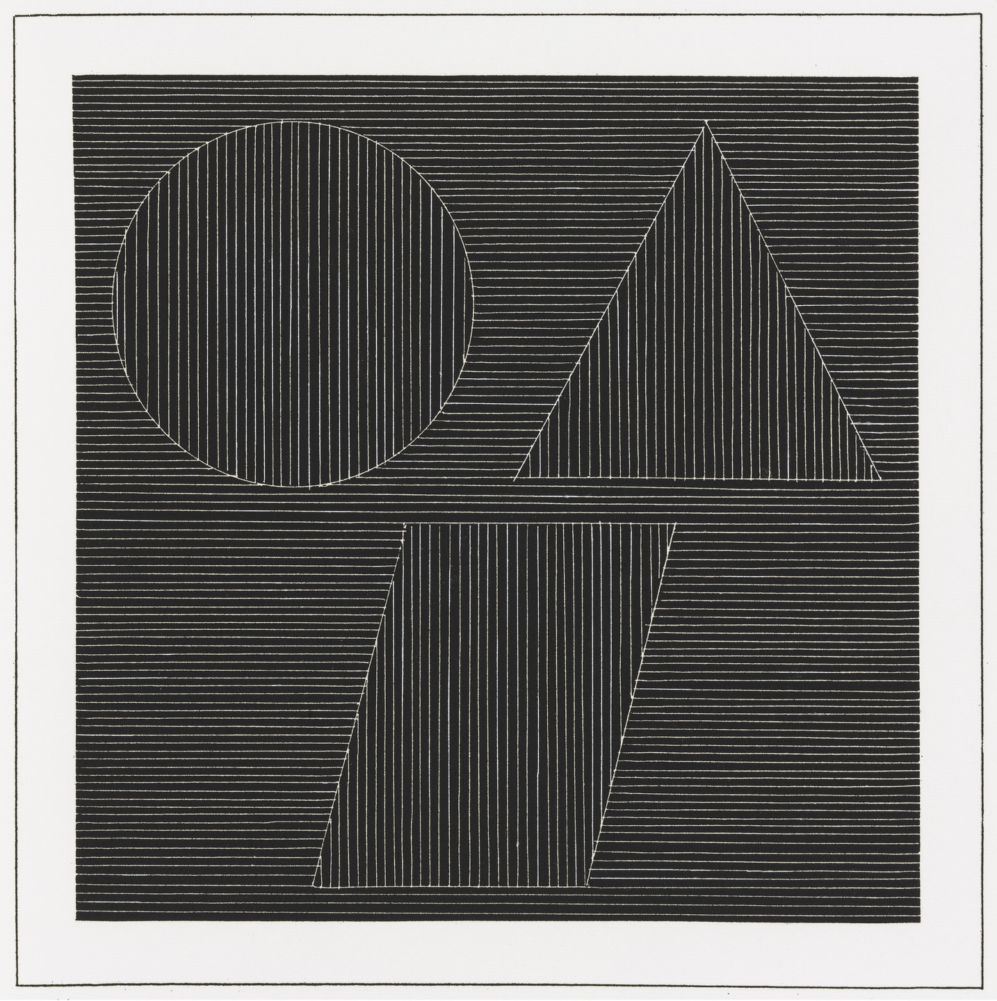 Sol LeWitt. Plate (folio 35) from Six Geometric Figures and All Their Combinations, Volume I. 1980