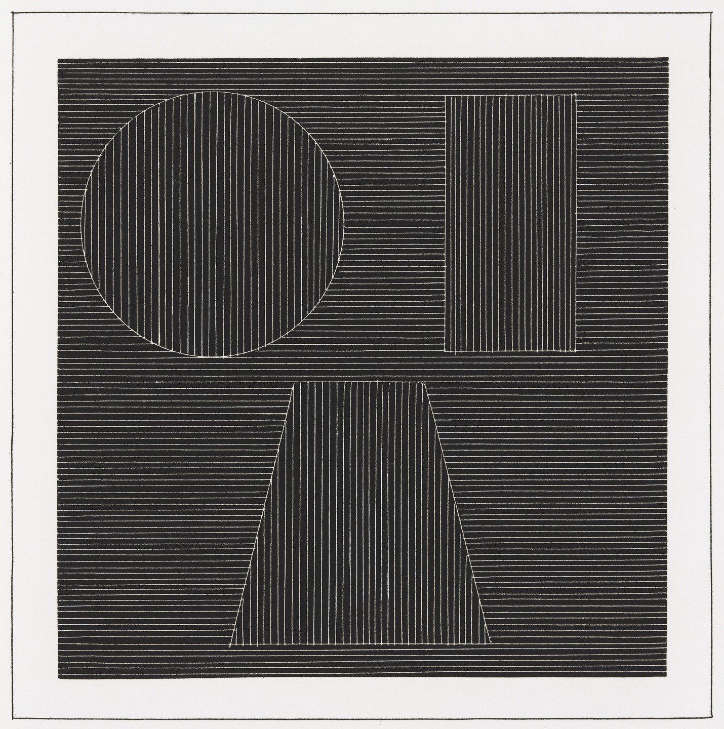 Sol LeWitt. Plate (folio 36) from Six Geometric Figures and All Their Combinations, Volume I. 1980