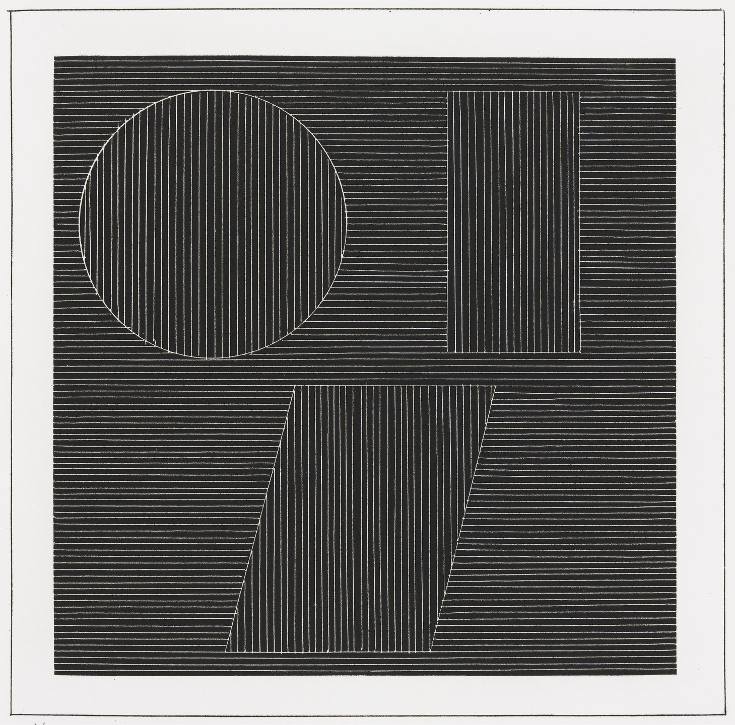 Sol LeWitt. Plate (folio 37) from Six Geometric Figures and All Their Combinations, Volume I. 1980
