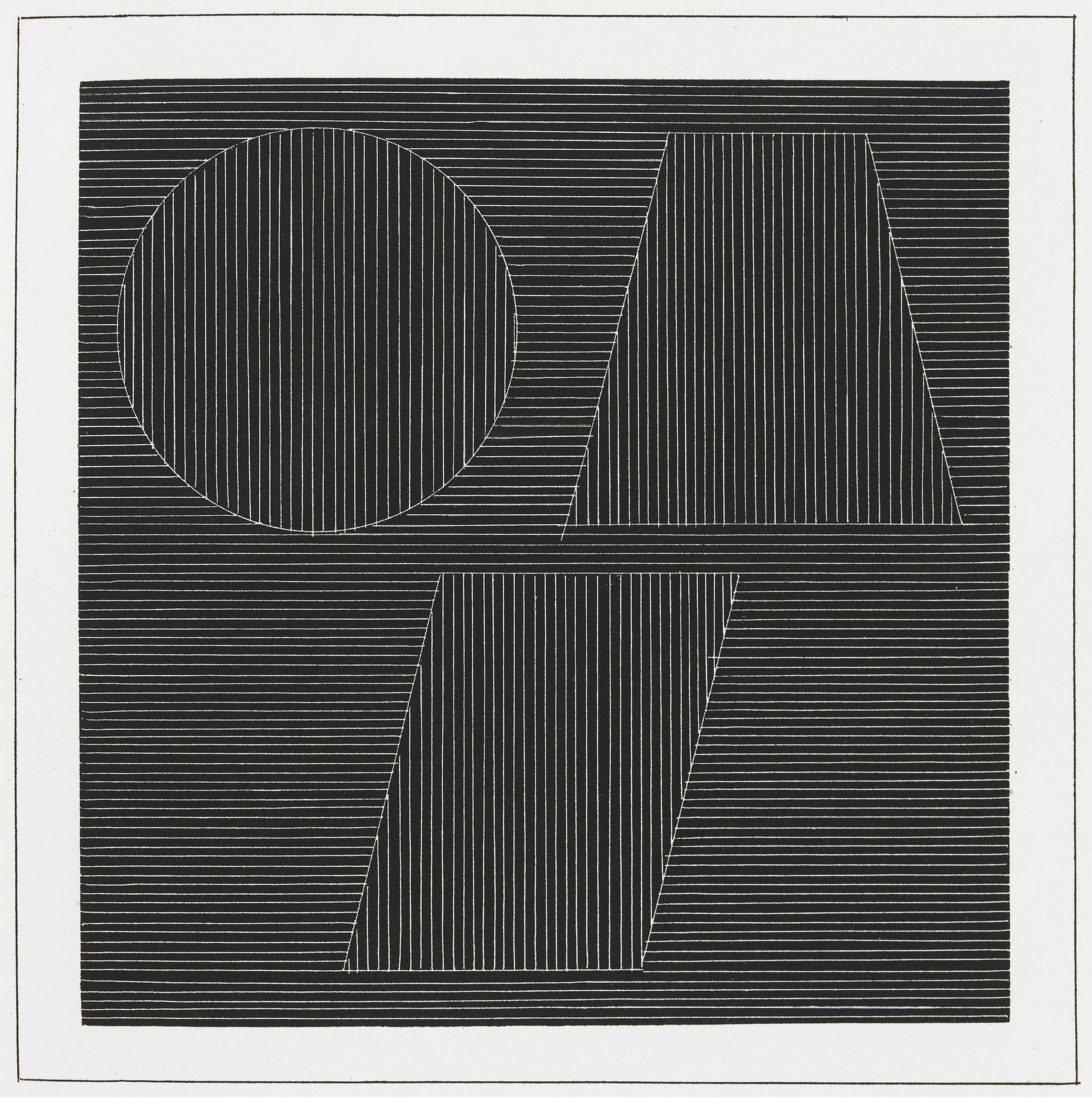 Sol LeWitt. Plate (folio 38) from Six Geometric Figures and All Their Combinations, Volume I. 1980