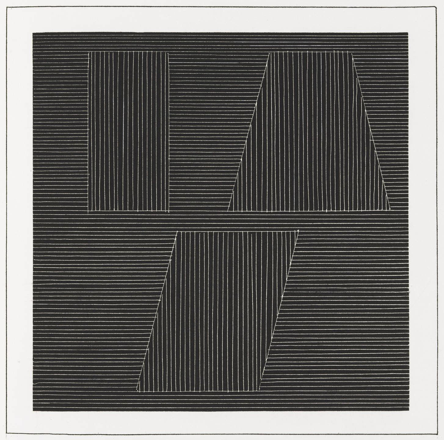Sol LeWitt. Plate (folio 42) from Six Geometric Figures and All Their Combinations, Volume I. 1980