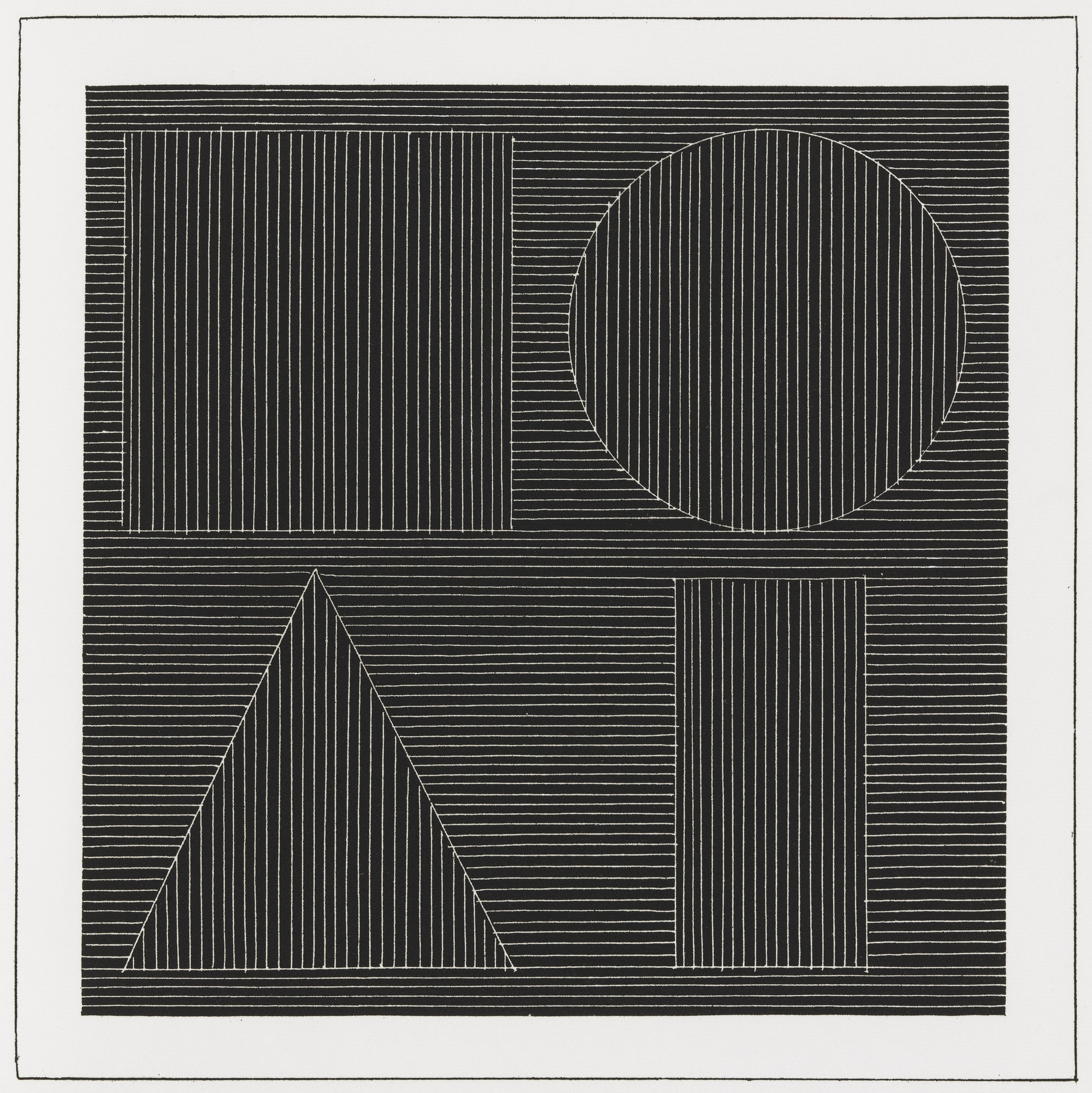 Sol LeWitt. Plate (folio 43) from Six Geometric Figures and All Their Combinations, Volume I. 1980