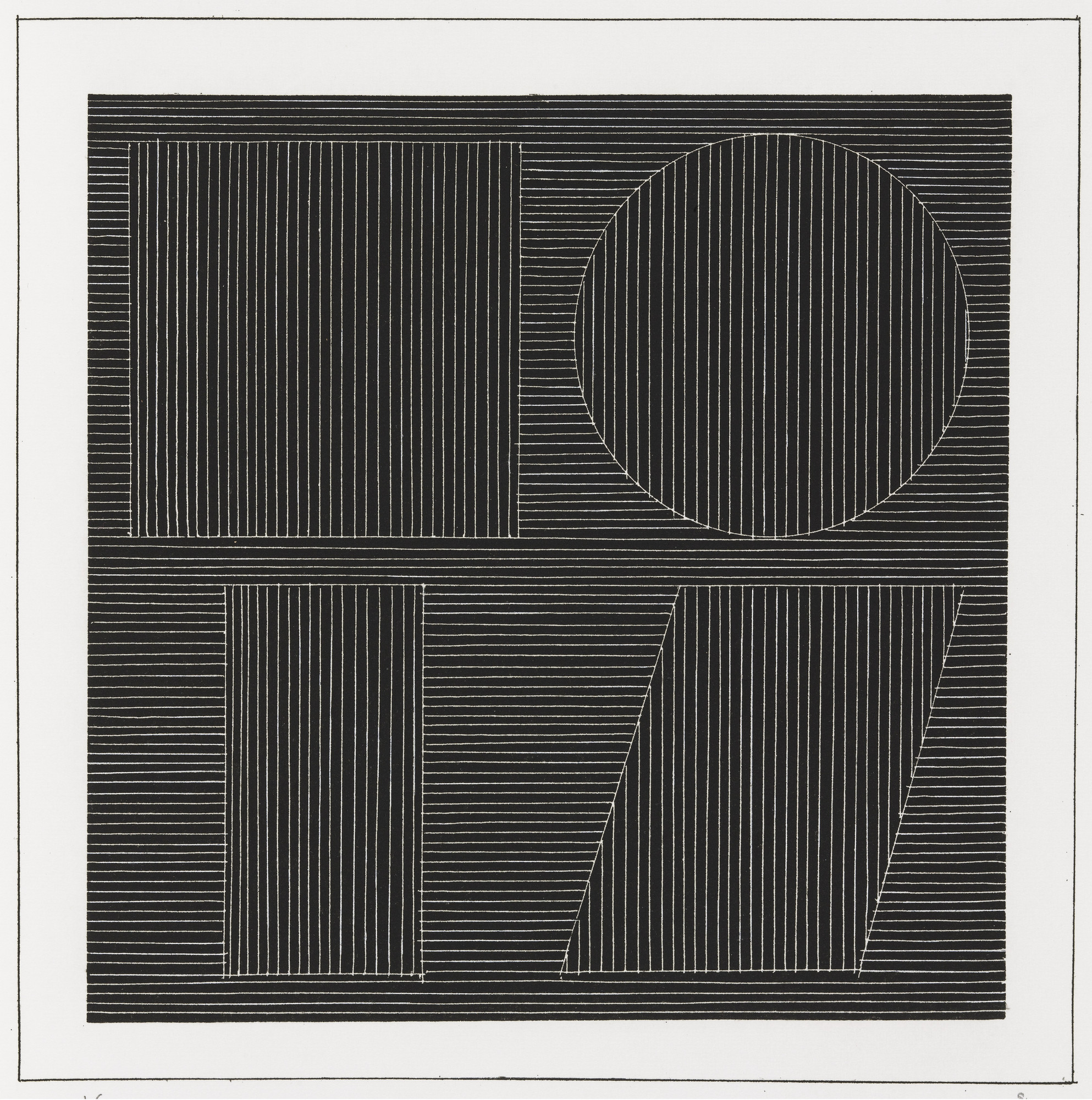 Sol LeWitt. Plate (folio 47) from Six Geometric Figures and All Their Combinations, Volume I. 1980