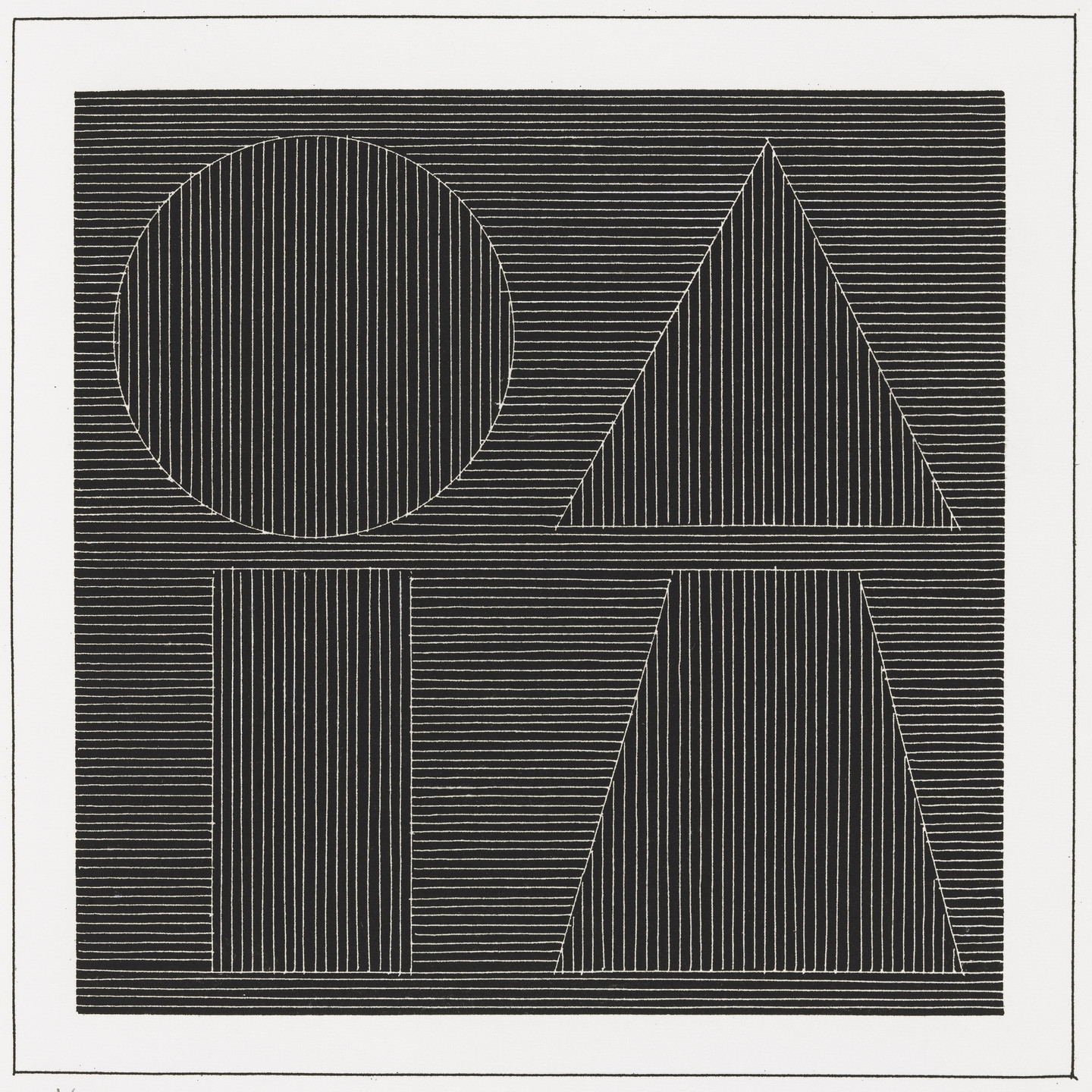 Sol LeWitt. Plate (folio 53) from Six Geometric Figures and All Their Combinations, Volume I. 1980