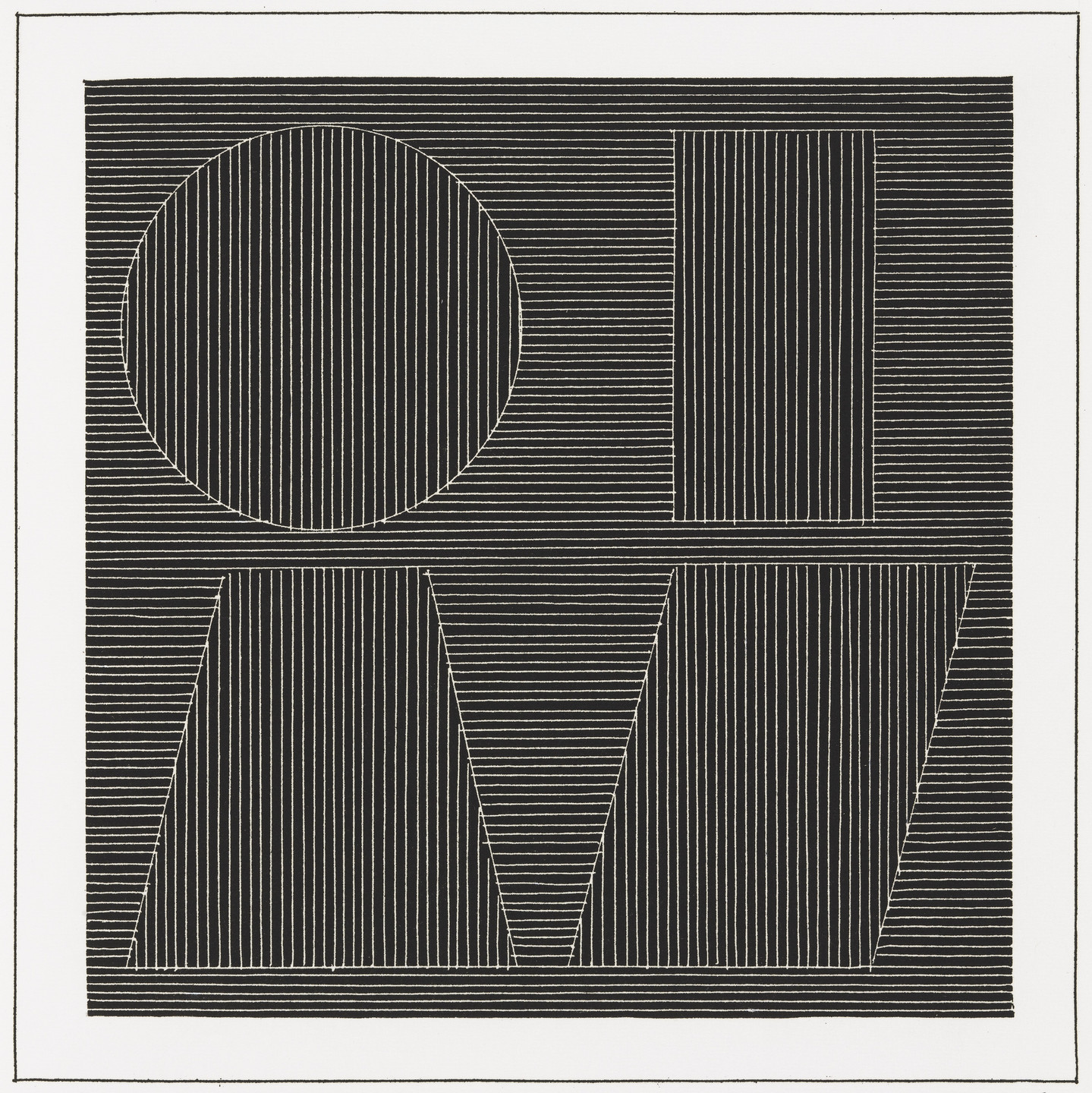 Sol LeWitt. Plate (folio 56) from Six Geometric Figures and All Their Combinations, Volume I. 1980