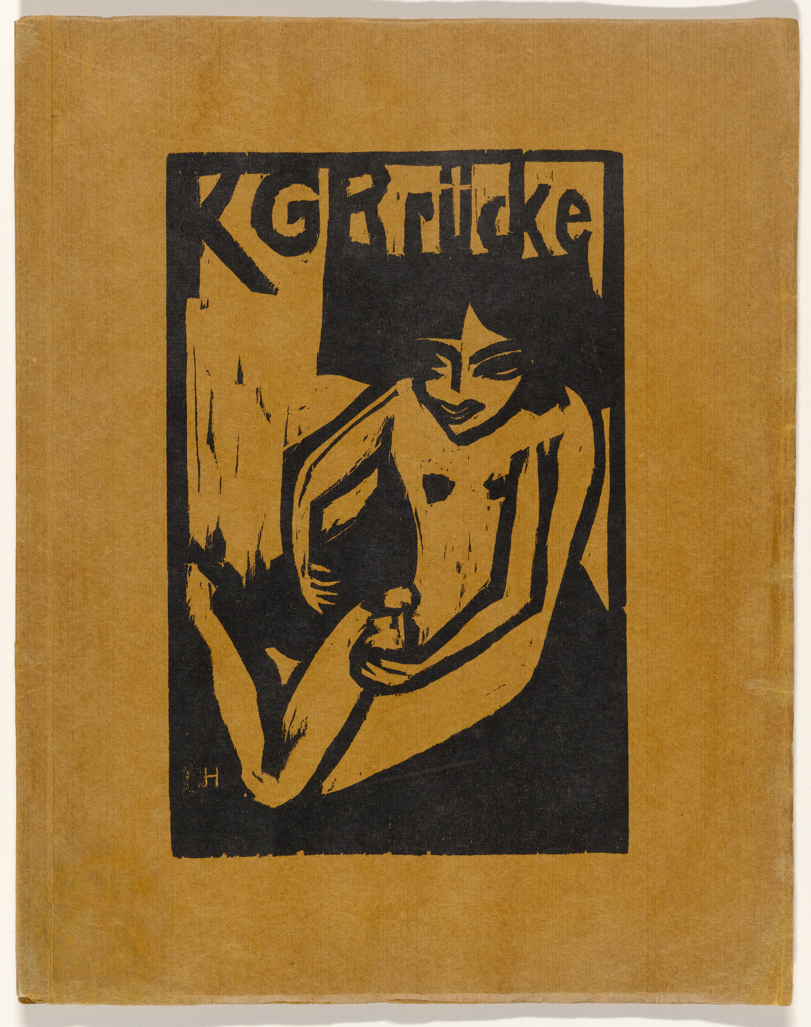 Erich Heckel. Fränzi with Doll (Fränzi mit Puppe) (cover) from KG Brücke. 1910