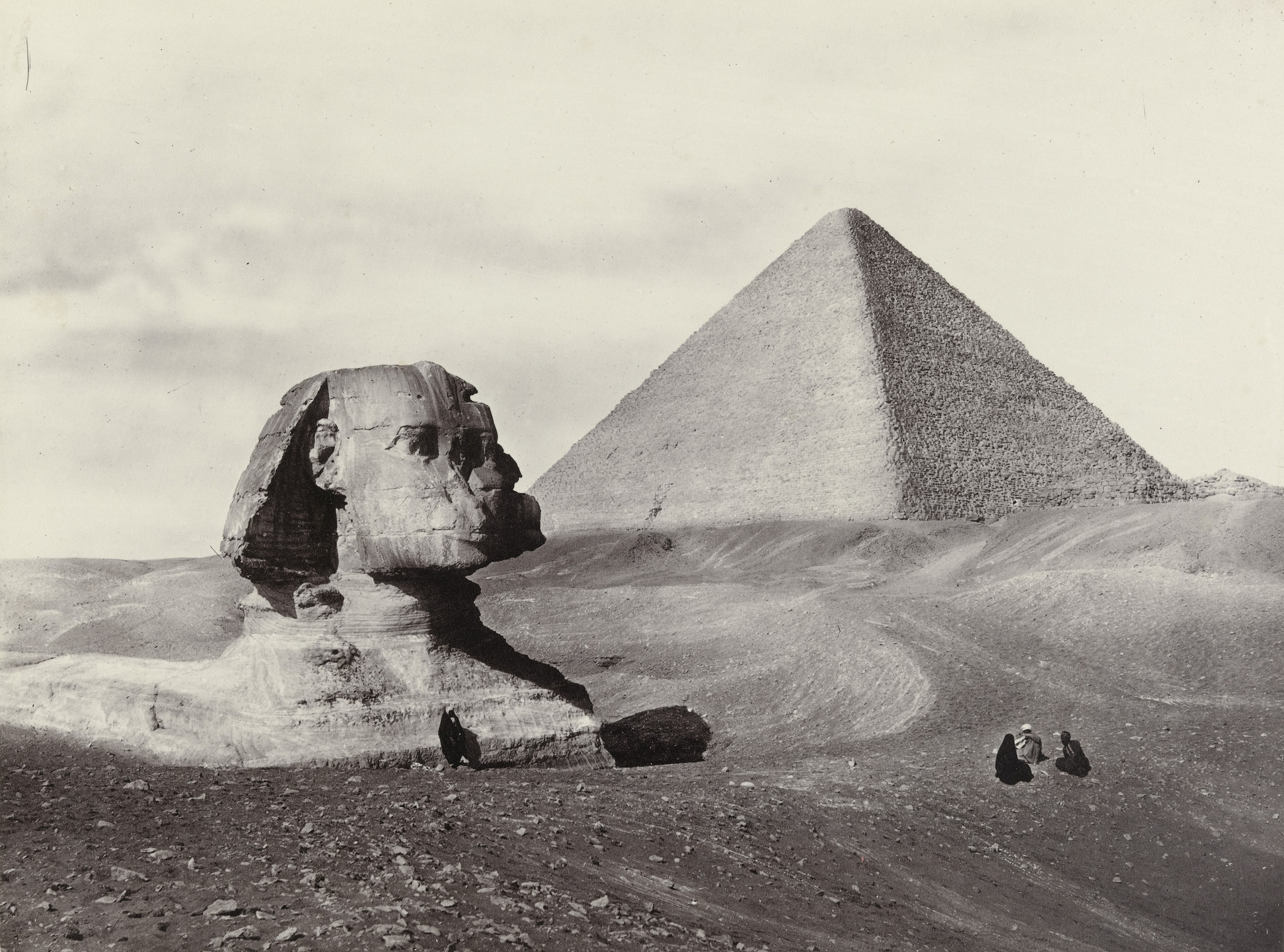 Francis Frith. Great Pyramid and Sphinx. 1855-98