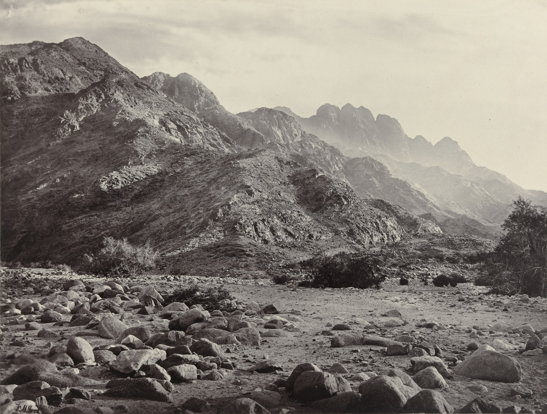 Francis Frith. Distant View of Mont Serbal. 1855-98