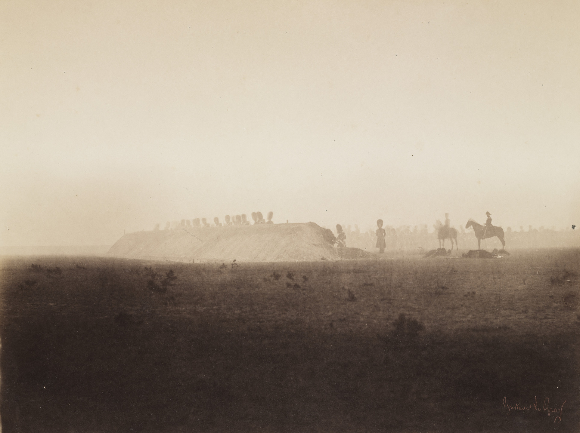 Gustave Le Gray. Cavalry Maneuvers, October 3 from the album Memories of the Camp de Châlons under General Decaën. 1857