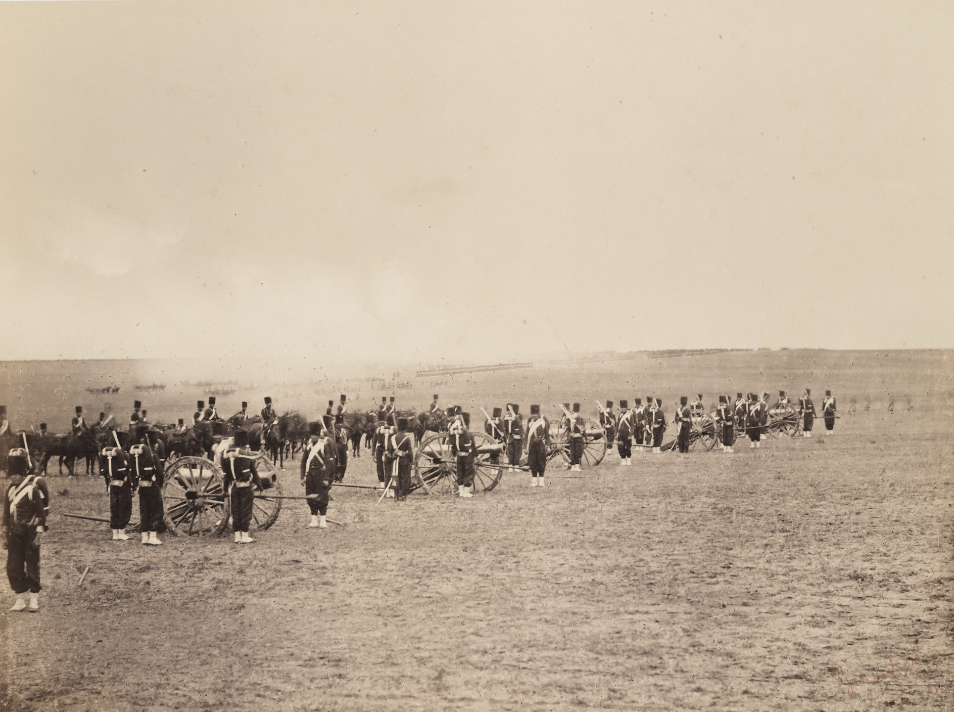 Gustave Le Gray. Untitled from the portfolio Souvenirs du Camp de Chalons. 1857
