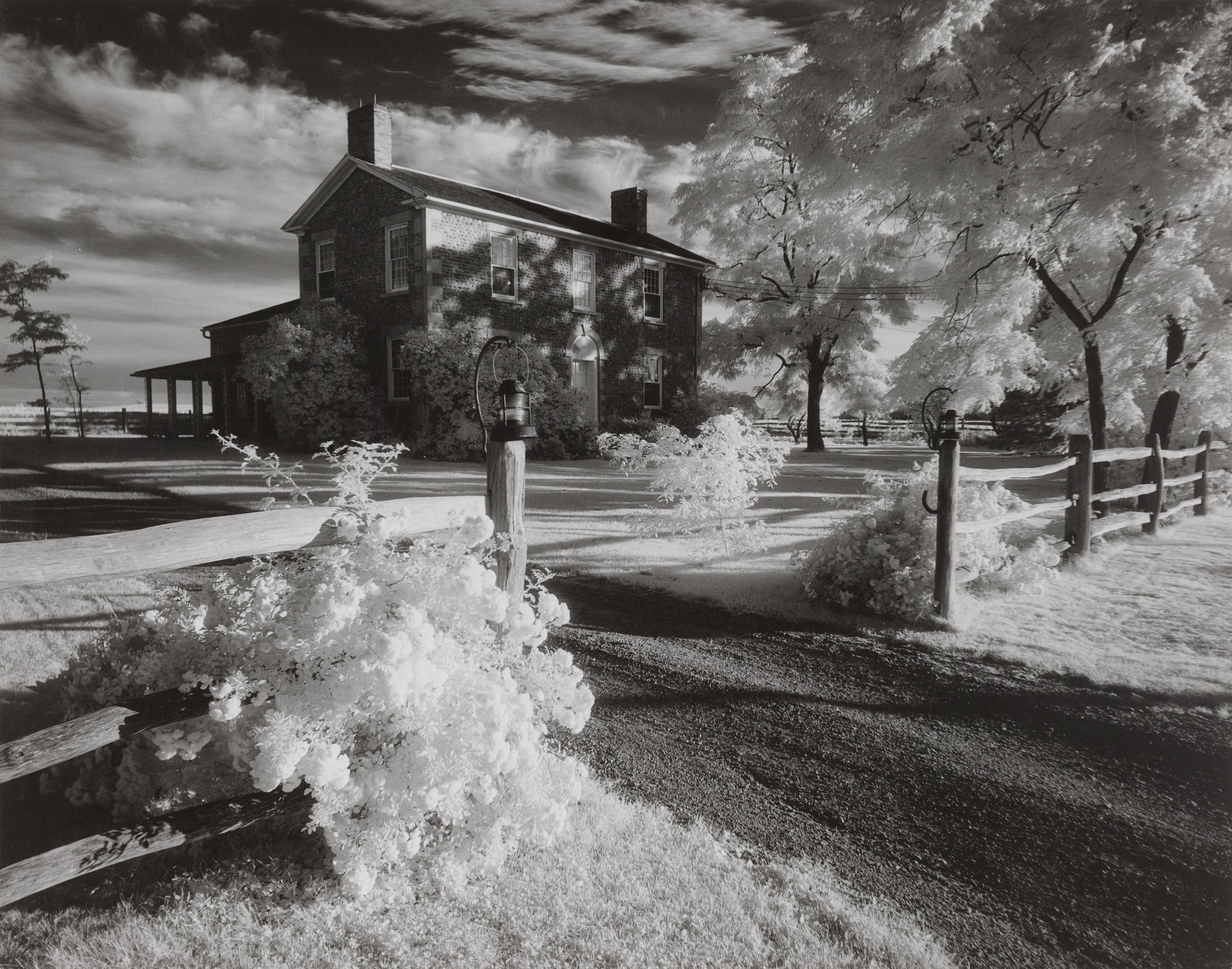 Minor White. Cobblestone House. 1958