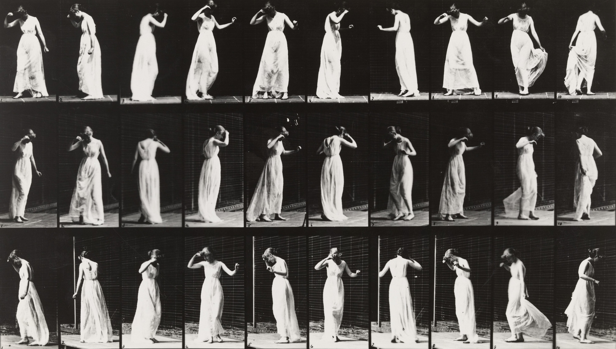 Eadweard J. Muybridge. Woman Dancing: Plate 194 from Animal Locomotion (1887). 1884-86