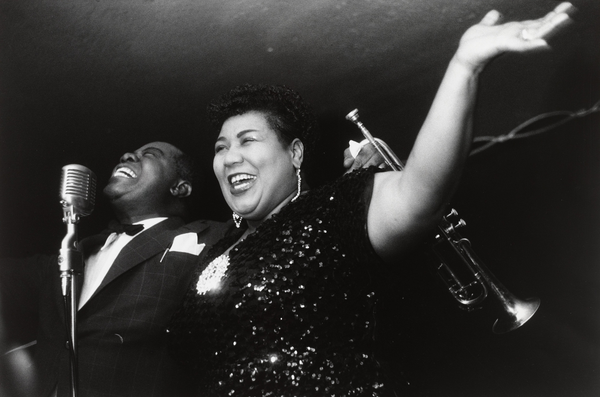 Garry Winogrand. Louis Armstrong and Velma Middleton. c. 1954-55