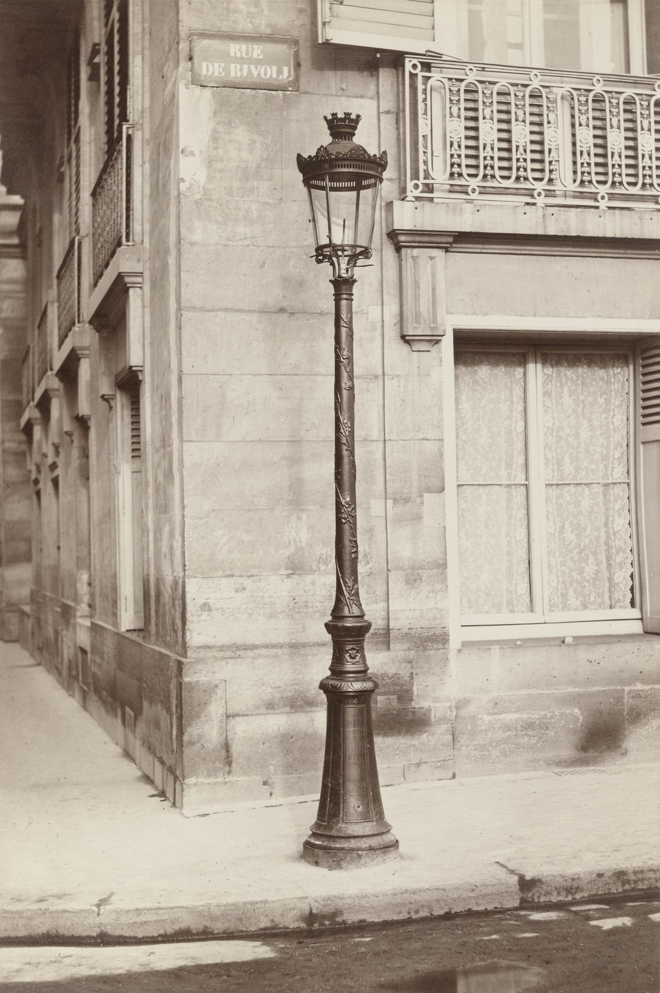 Charles Marville. Streetlamp, Oudry Model. 1870s