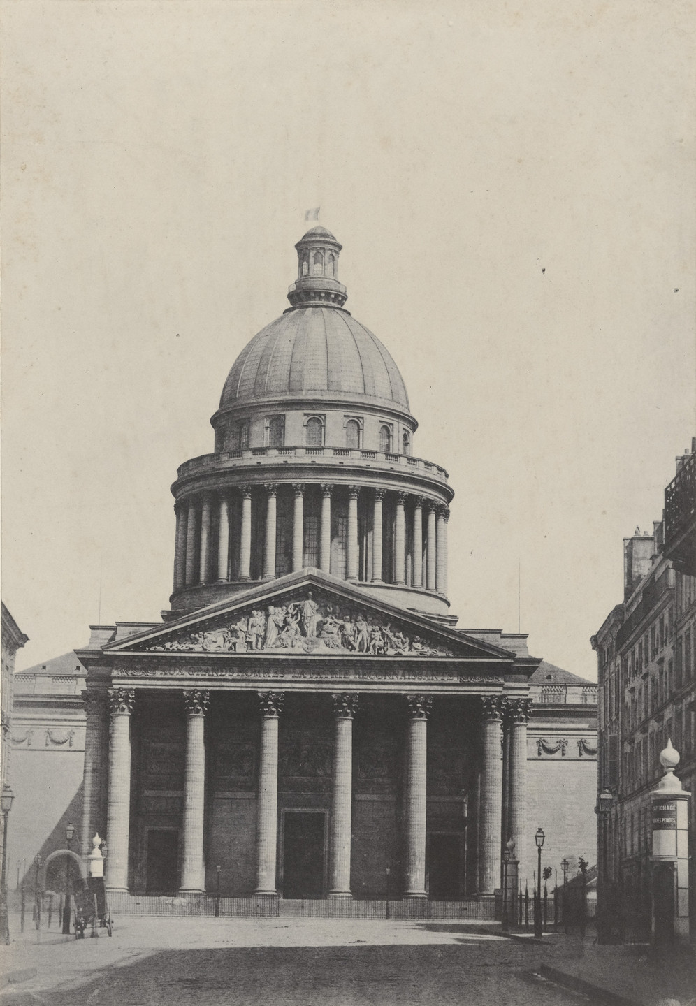 Charles Marville. The Pantheon, Paris. c. 1853