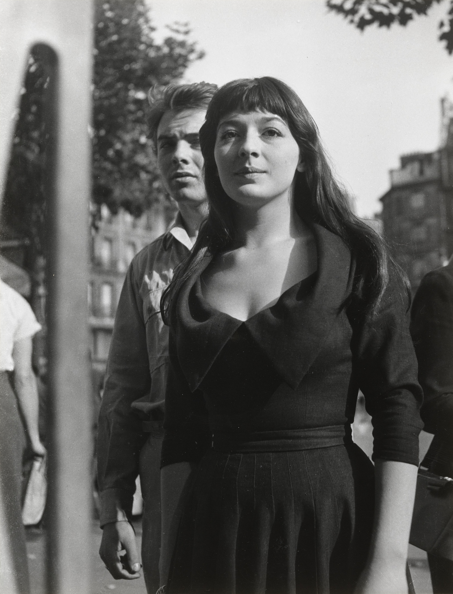 Emmy Andriesse. Juliette Greco and Erskine Caldwell, Paris. c. 1948