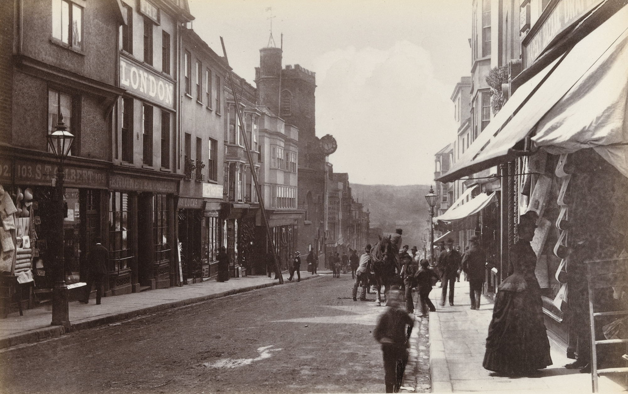 Francis Bedford. Exeter, Fore Street (No. 33). c. 1860