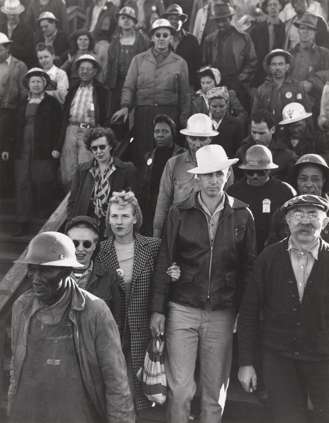Dorothea Lange. Shipyard Construction Workers, Richmond, California. 1942