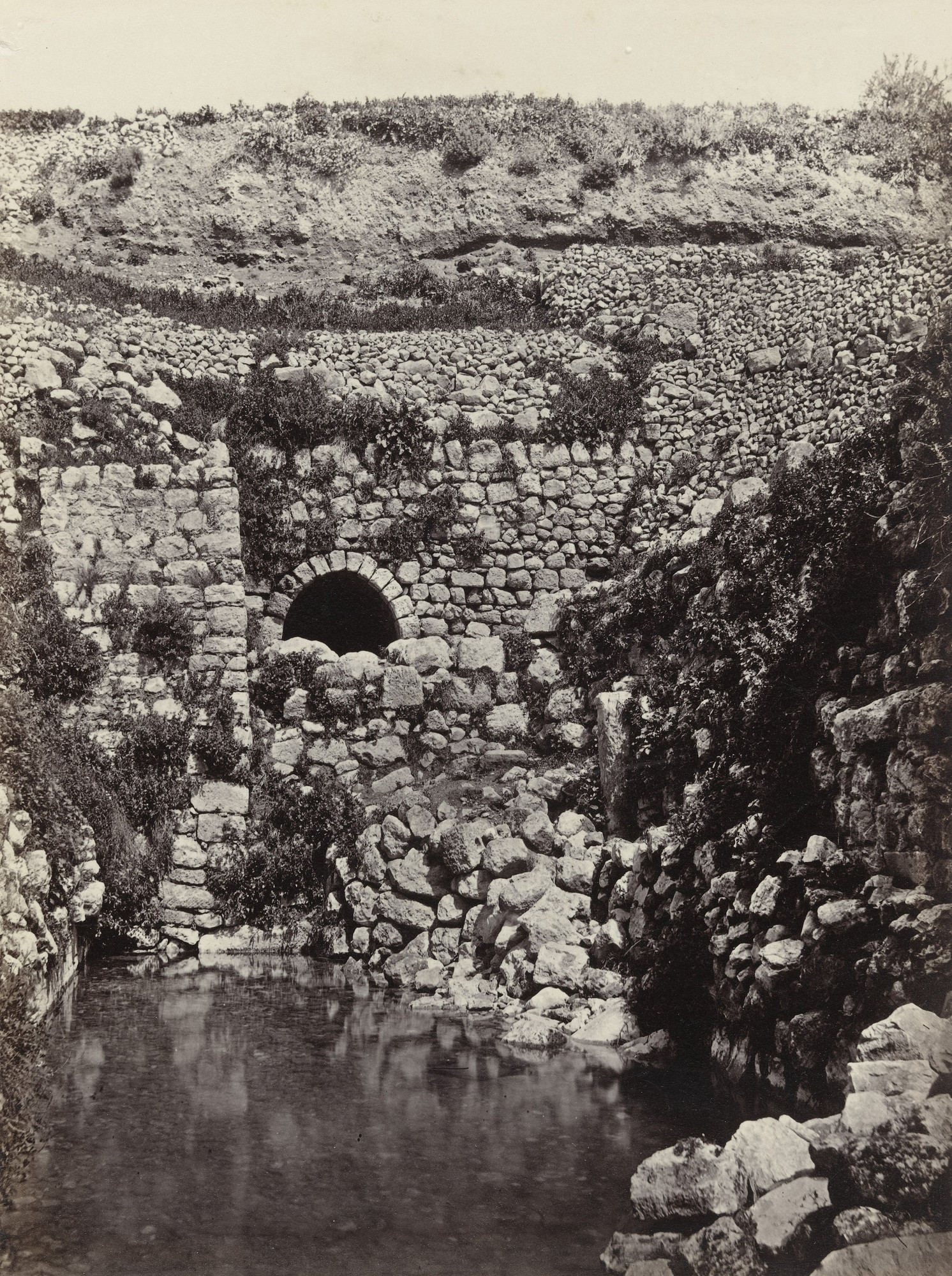Francis Frith. The Pool of Siloam, Jerusalem (#578). c. 1860