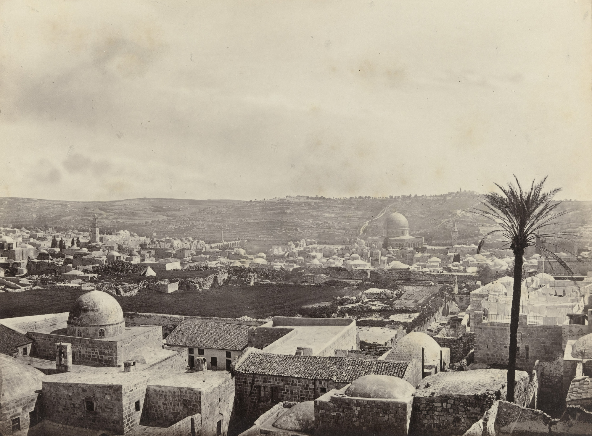 Francis Frith. Jerusalem, from Mount Zion, with Mosque of Omar (#571). c. 1860