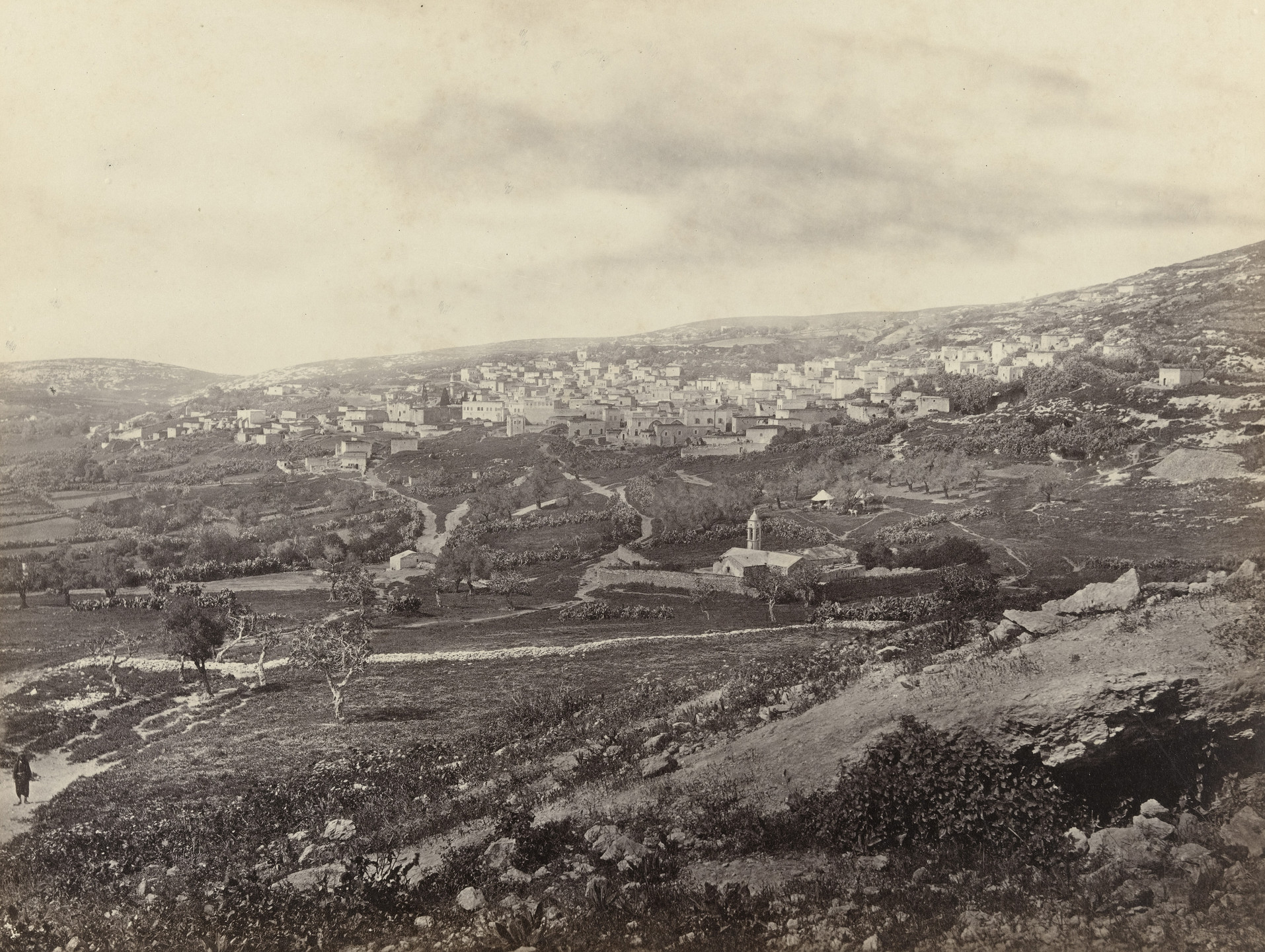 Francis Frith. Nazareth, from the East, with the Well of the Virgin (#595). c. 1860