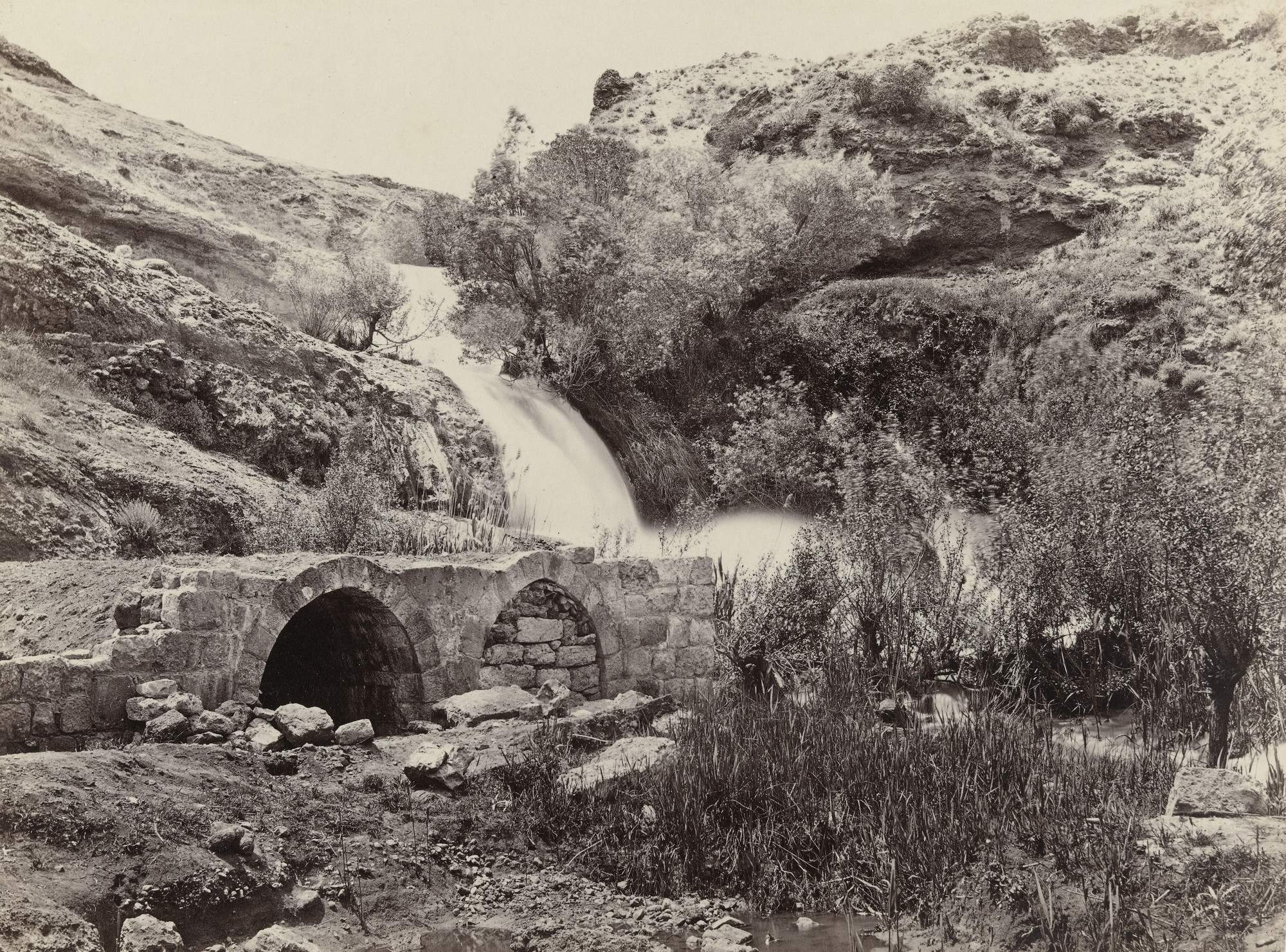 Francis Frith. Waterfall on the Abana, Near Damascus (#609). c. 1860