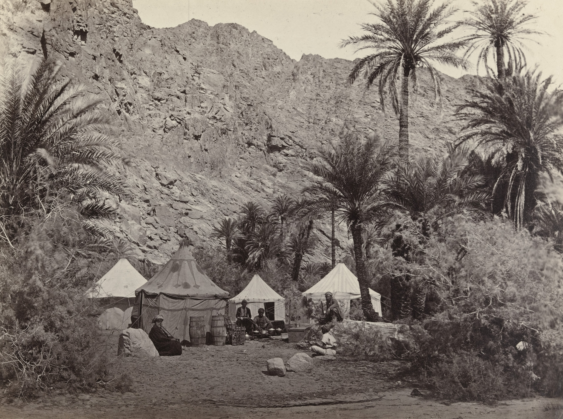 Francis Frith. Encampment in the Wilderness of Paran (#529). c. 1860