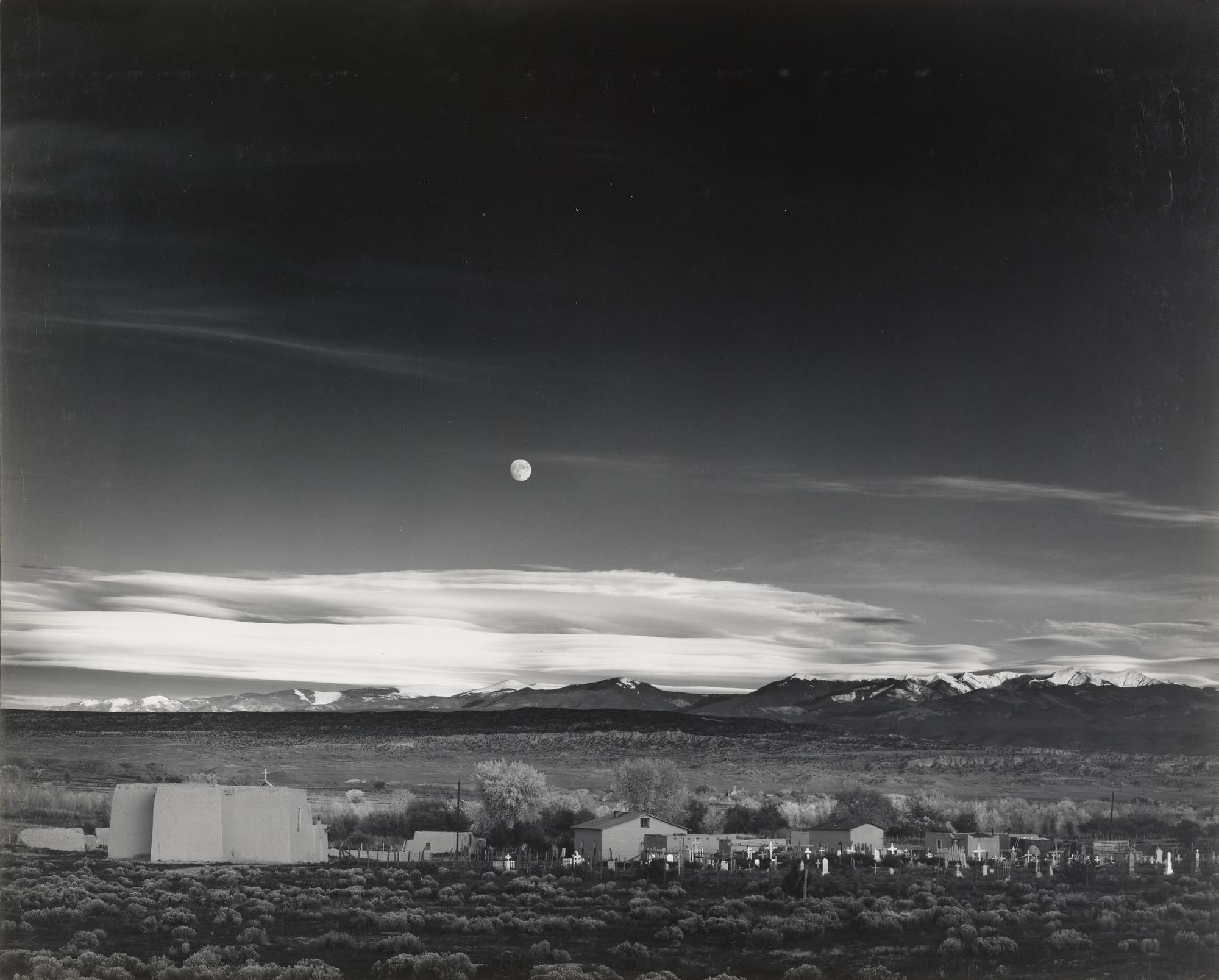 Ansel Adams Moonrise Hernandez New Mexico 1941 Moma