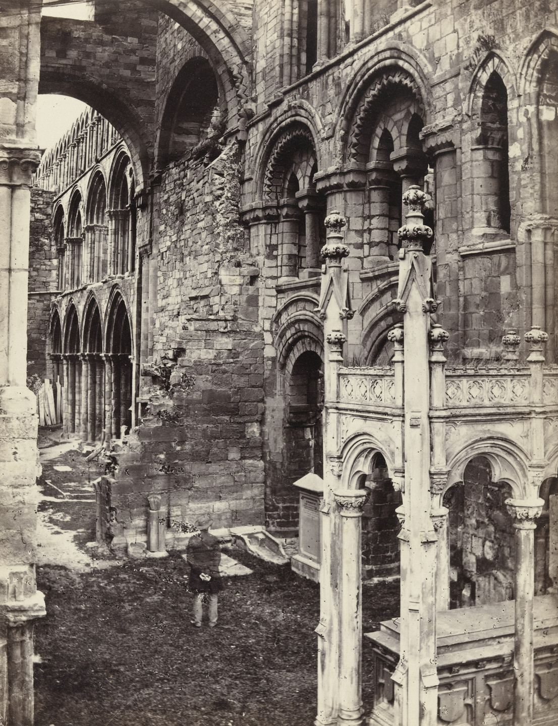 Francis Frith. Idburg Abbey, Interior. c. 1860