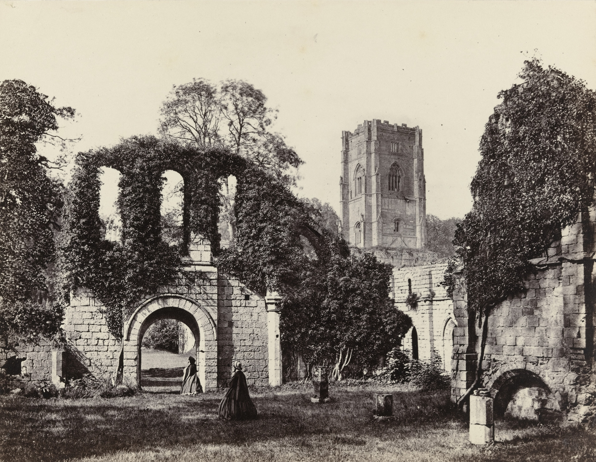 Francis Frith. View at Fountains Abbey. c. 1860