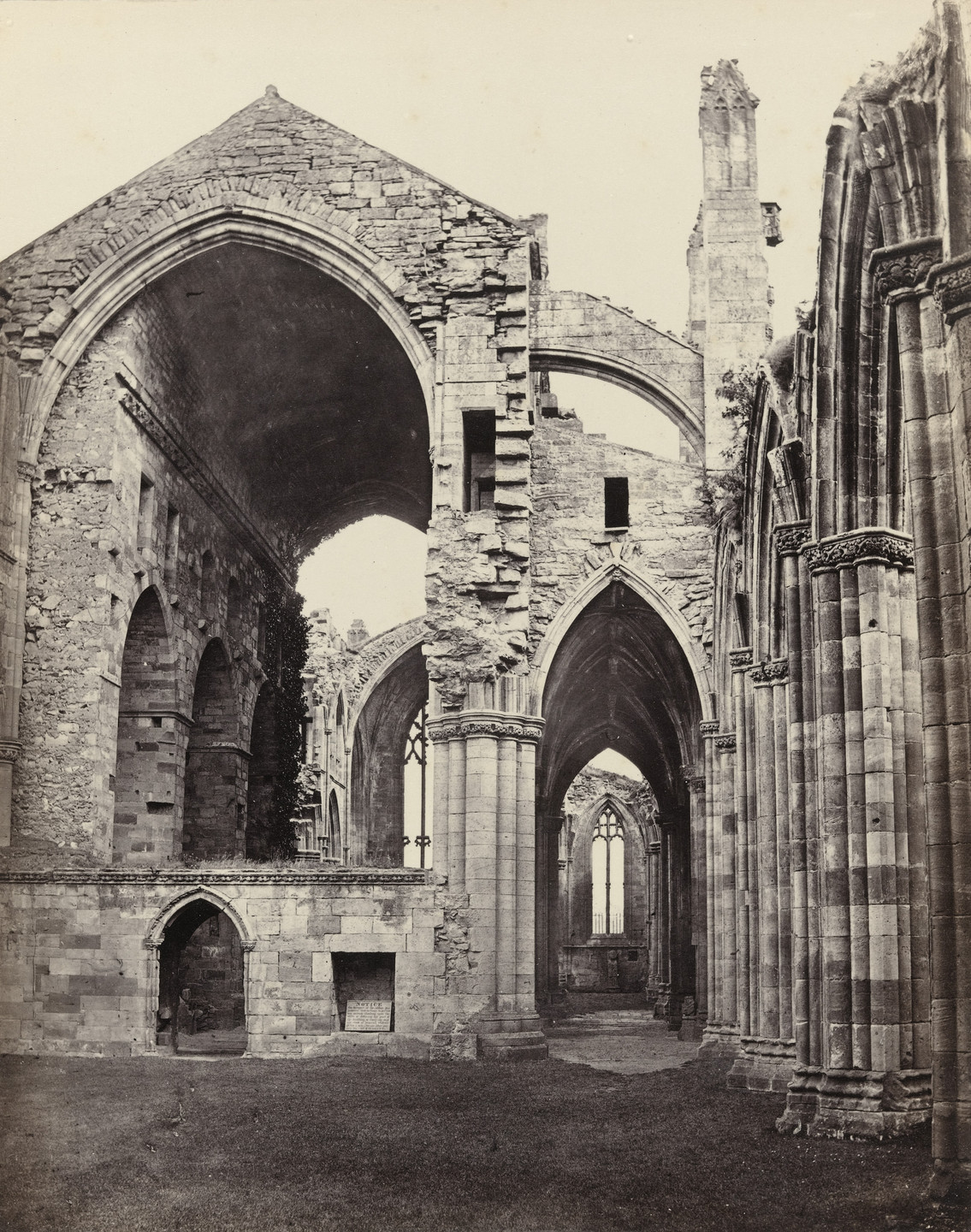 Francis Frith. Melrose Abbey, Interior. c. 1860