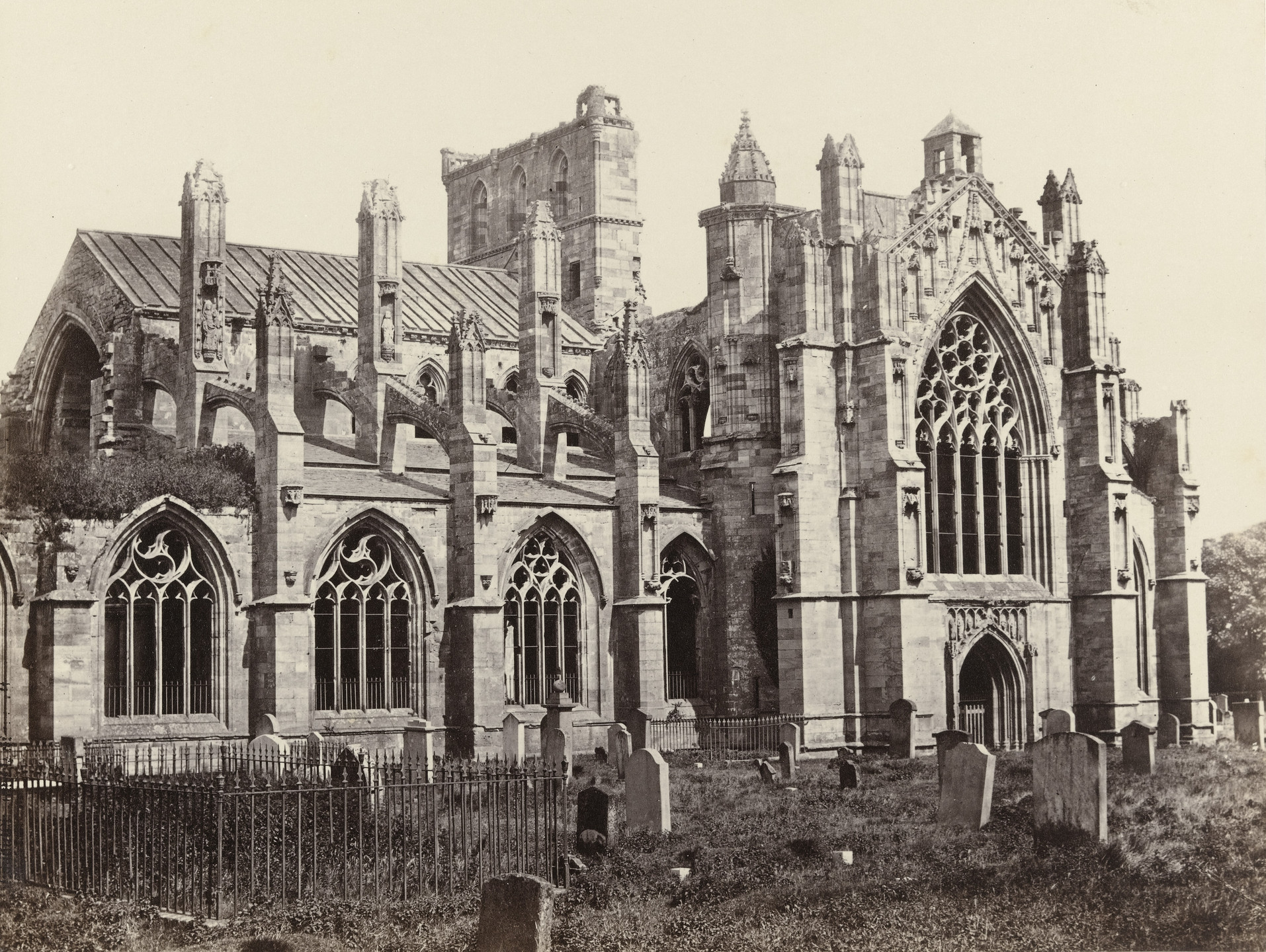 Francis Frith. Melrose Abbey. c. 1860