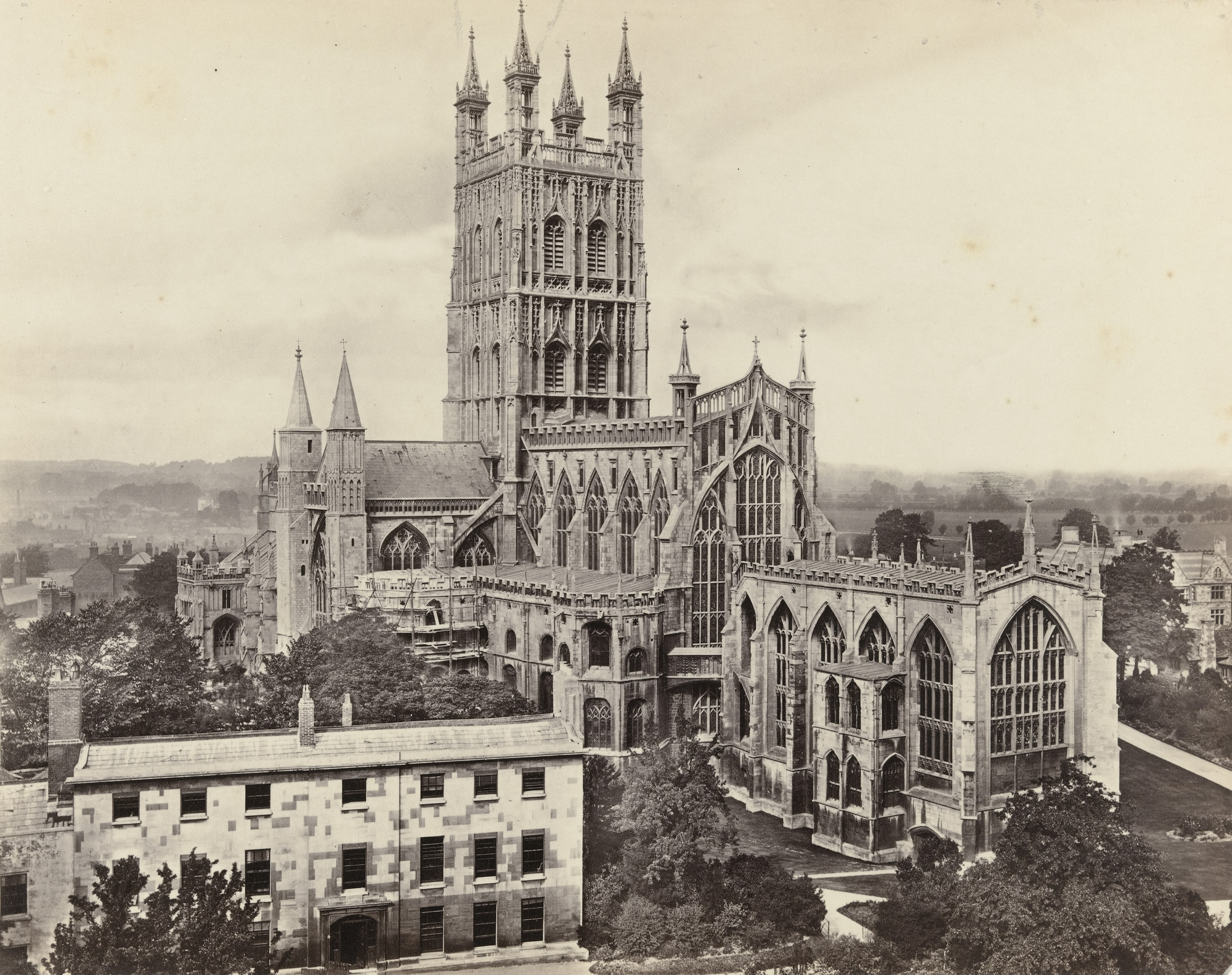 Francis Frith. Gloucester Cathedral. c. 1860