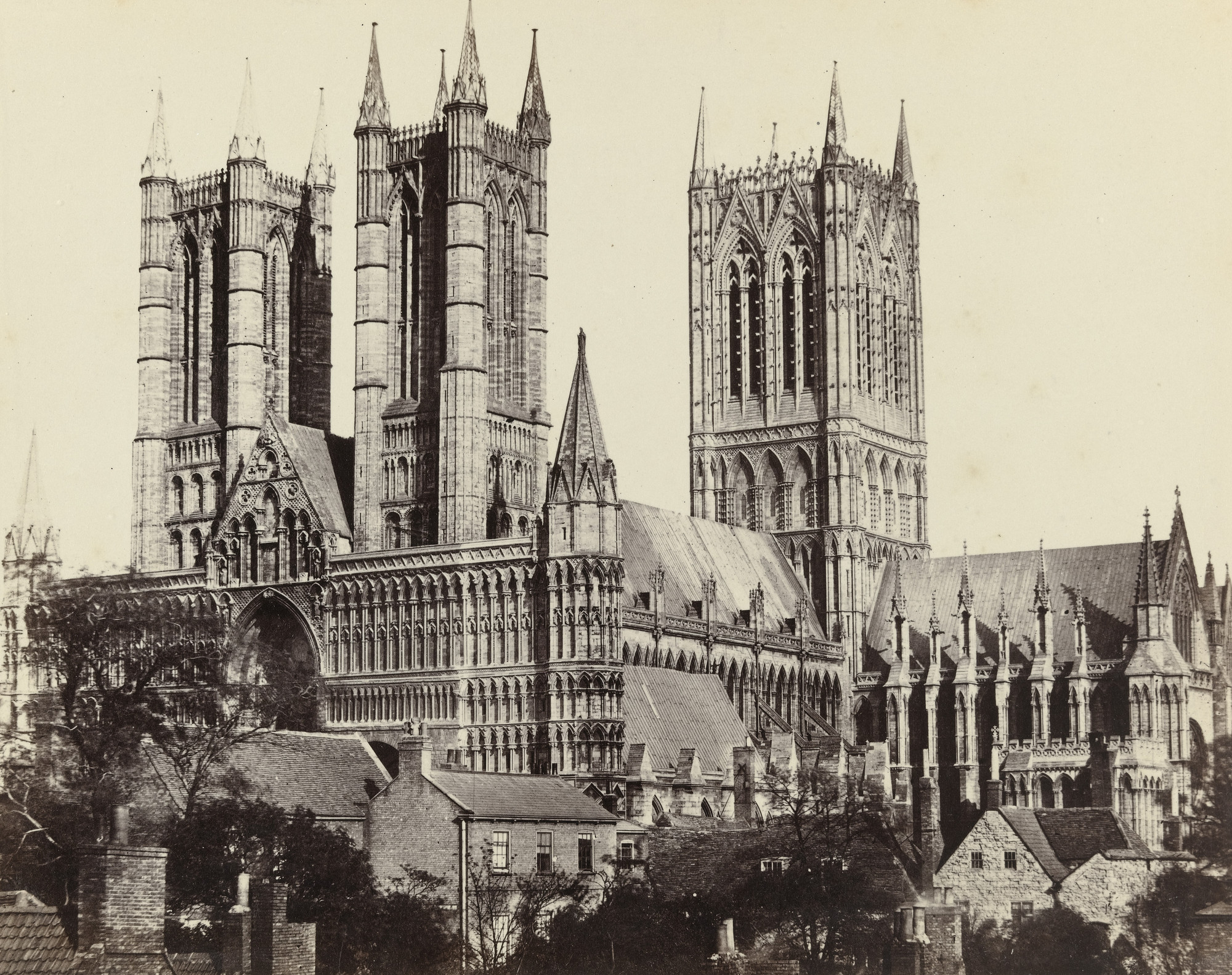 Francis Frith. Lincoln Cathedral. c. 1860
