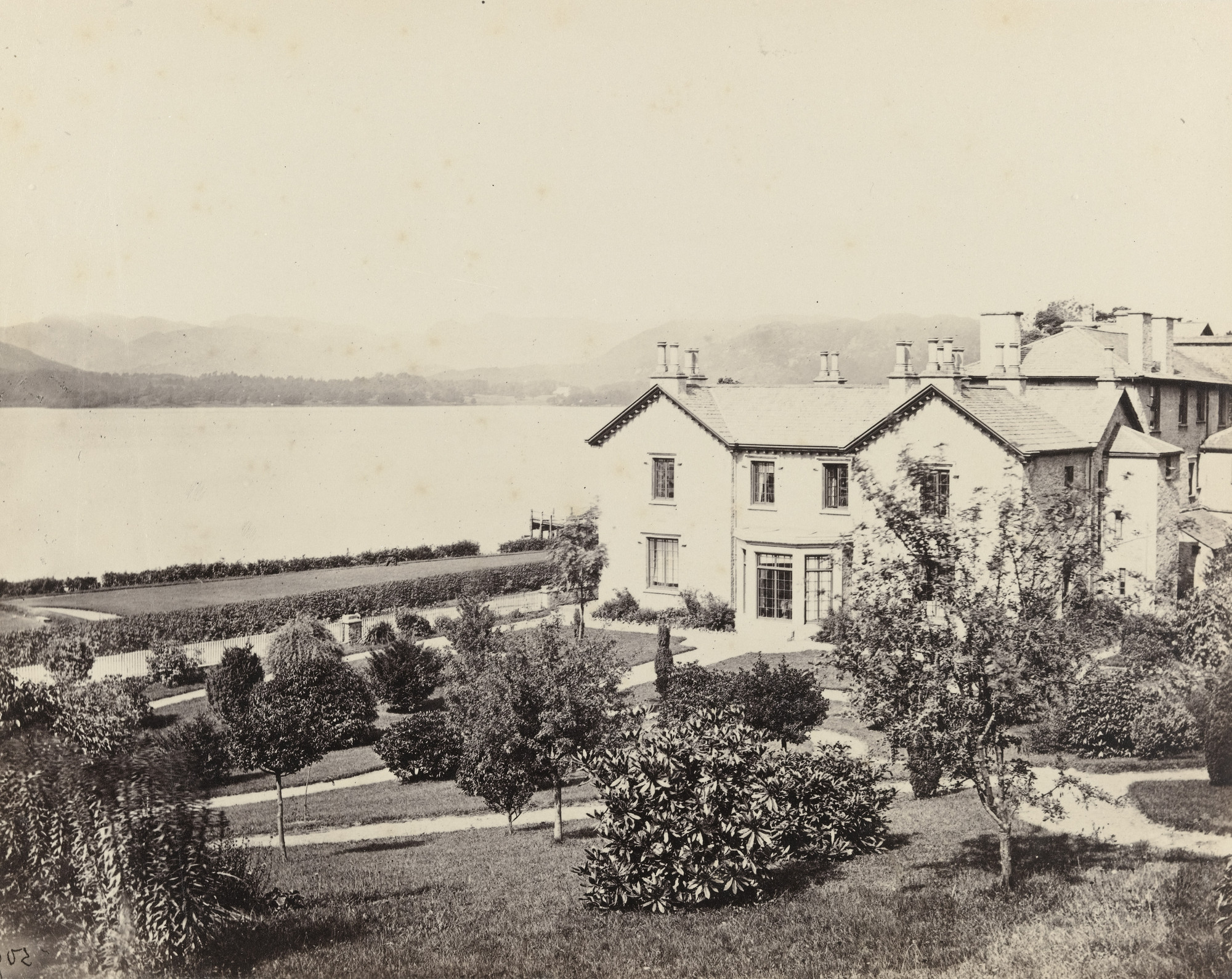 Francis Frith. Windermere, from Low-Wood Inn. c. 1860