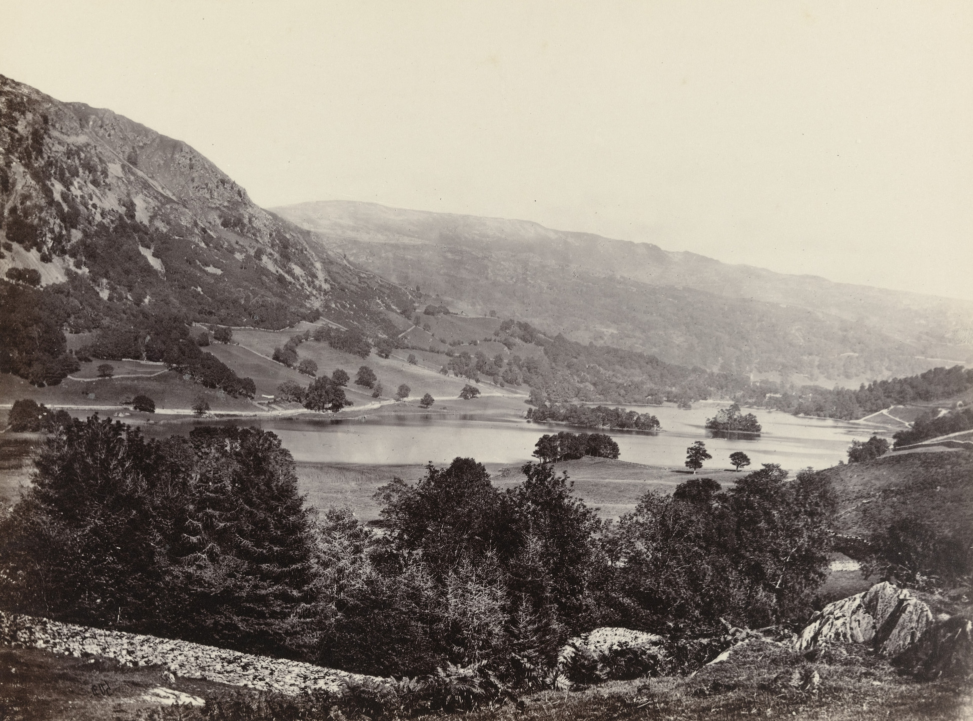 Francis Frith. Rydal Water from Loughrigg Terrace. c. 1860