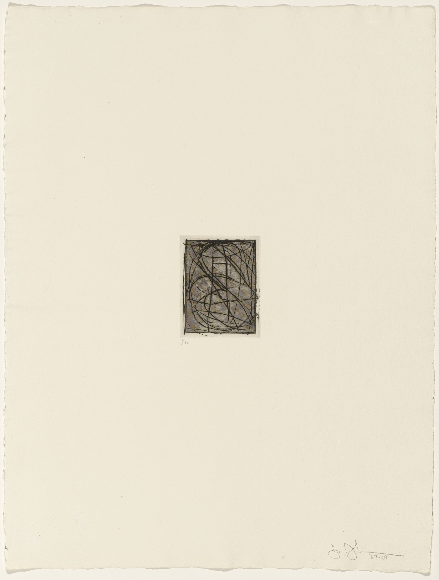 Jasper Johns. 0 through 9 from 1st Etchings-2nd State. 1967–69, published 1969