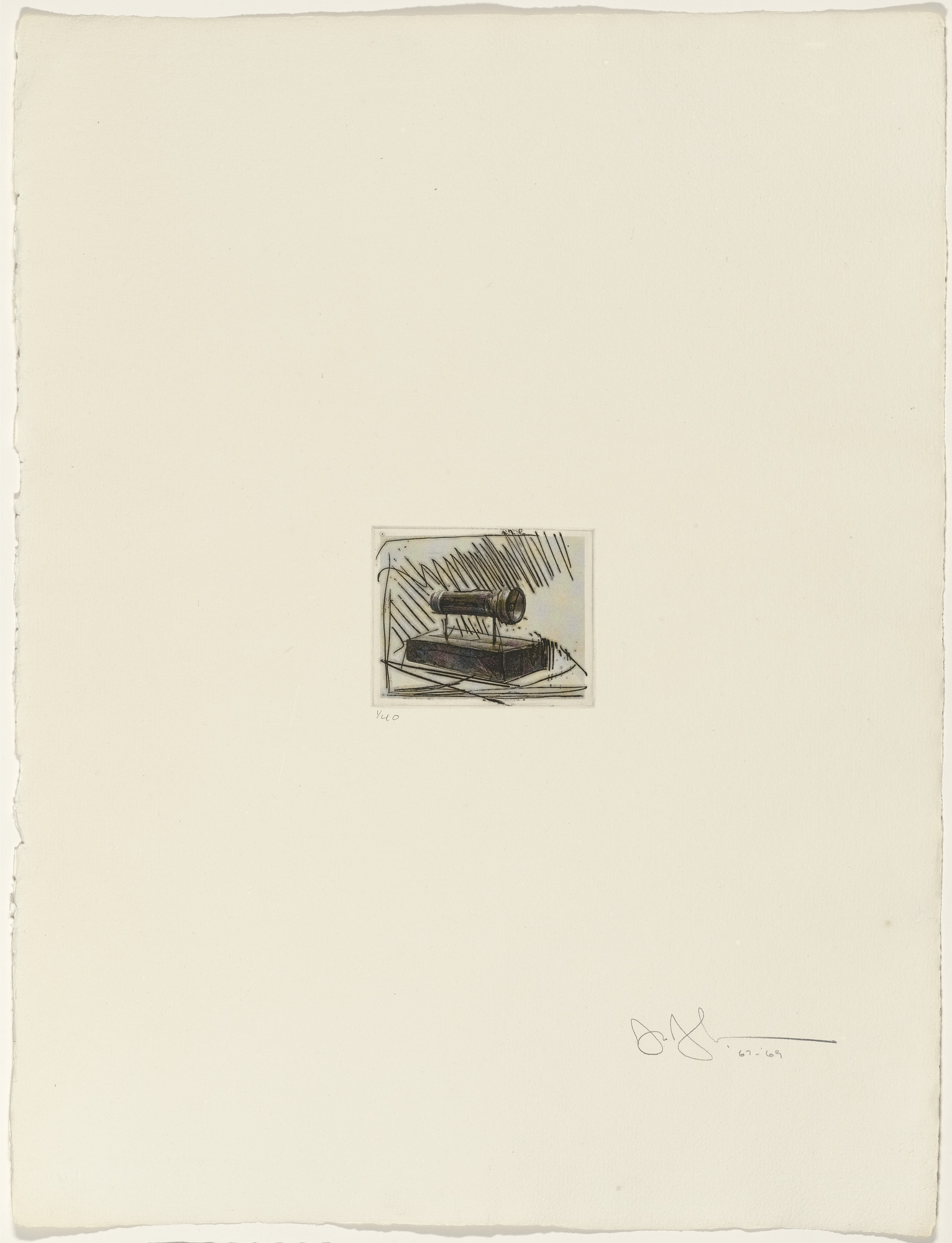 Jasper Johns. Flashlight I from 1st Etchings-2nd State. 1967–69, published 1969