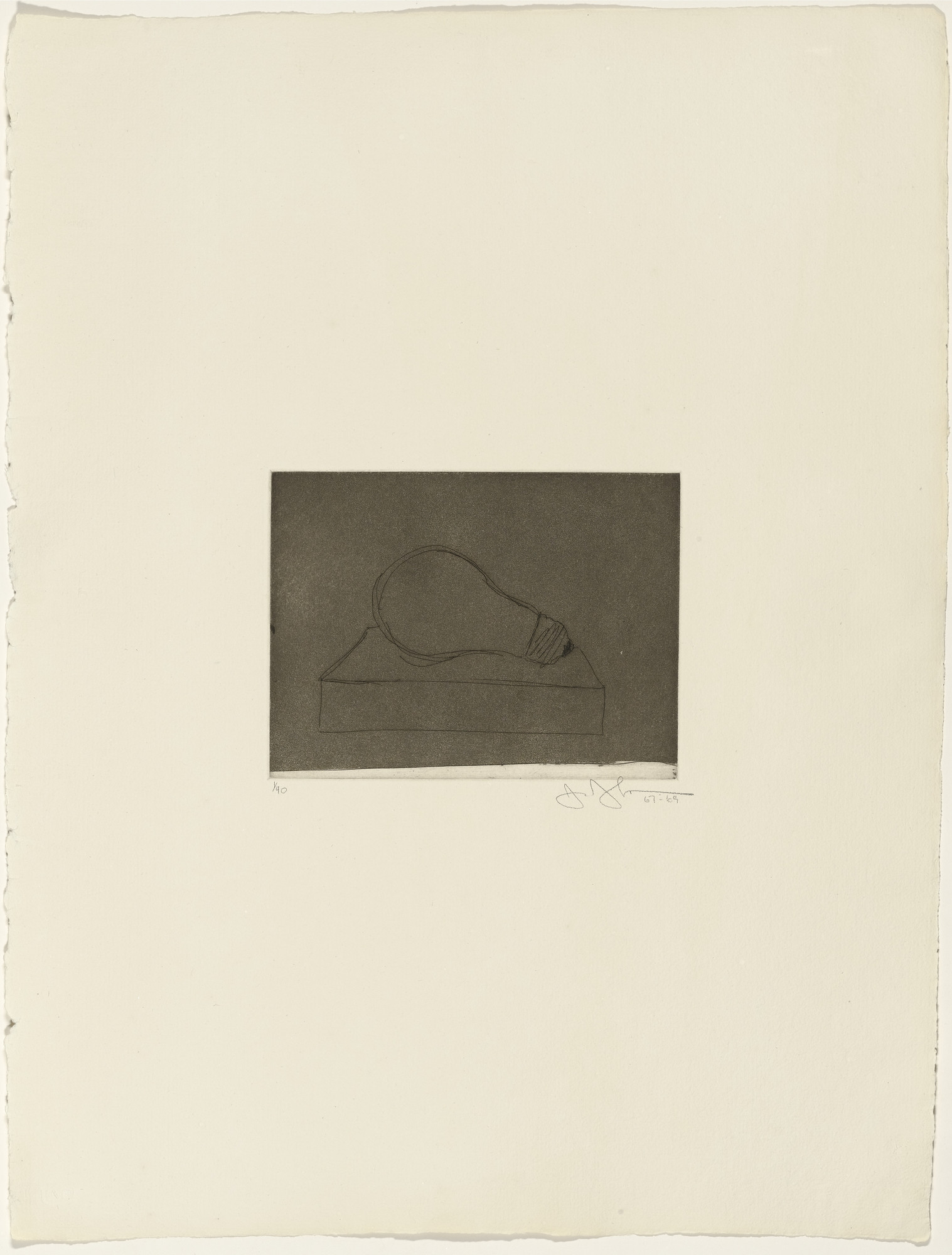 Jasper Johns. Light Bulb from 1st Etchings-2nd State. 1967–69, published 1969