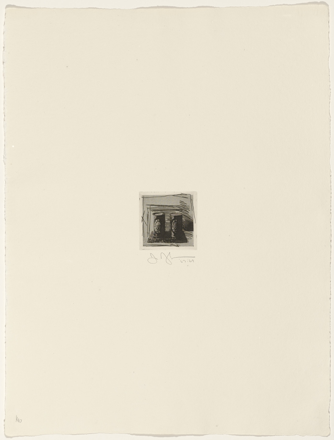 Jasper Johns. Painted Bronze from 1st Etchings-2nd State. 1967–69, published 1969