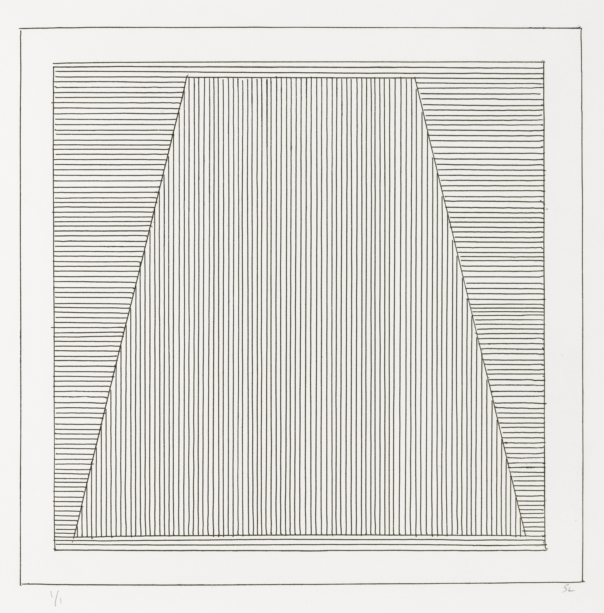 Sol LeWitt. Plate (folio 6) from Six Geometric Figures and All Their Combinations, Volume II. 1980