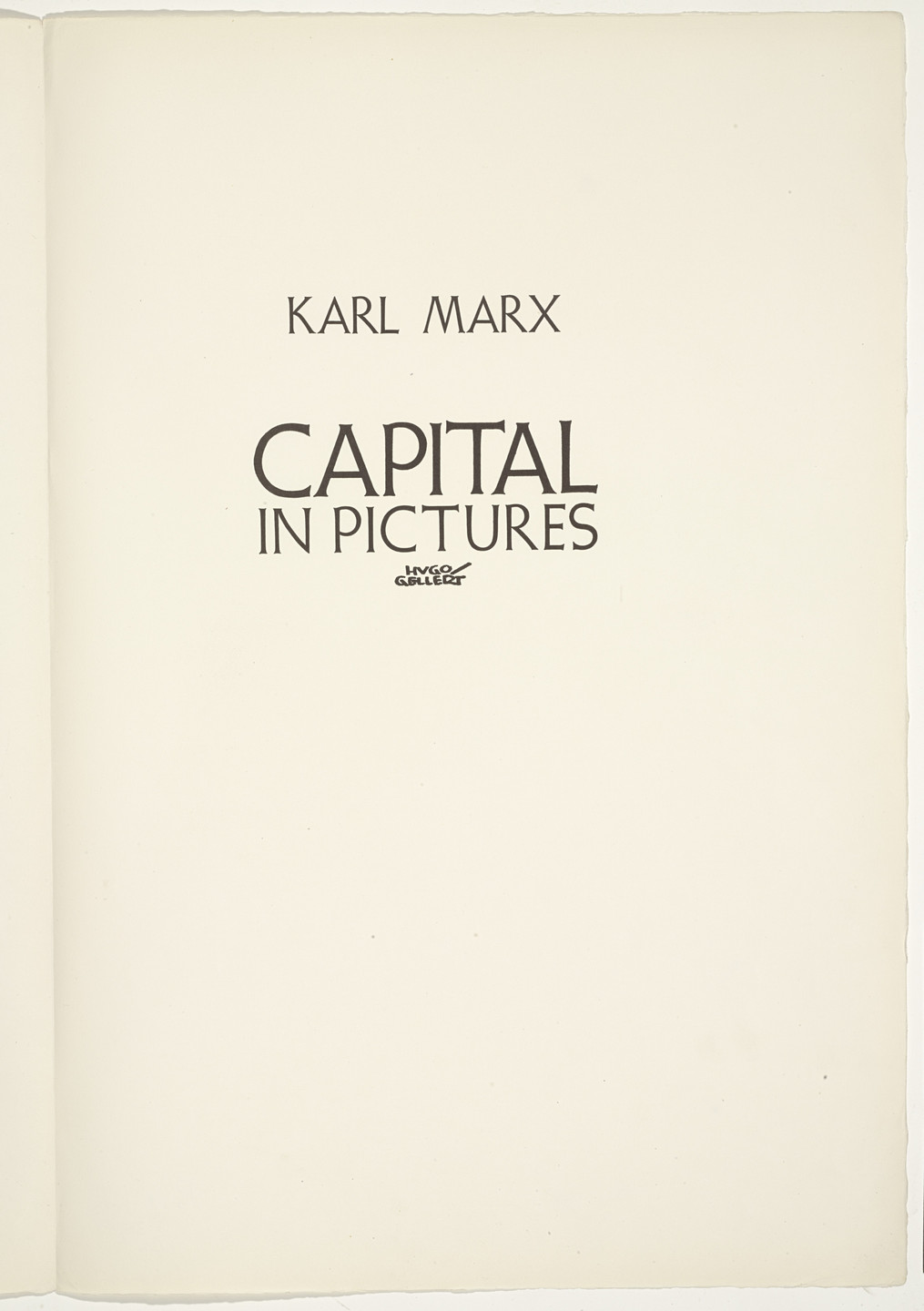 Hugo Gellert. 'Capital' in Pictures. 1933