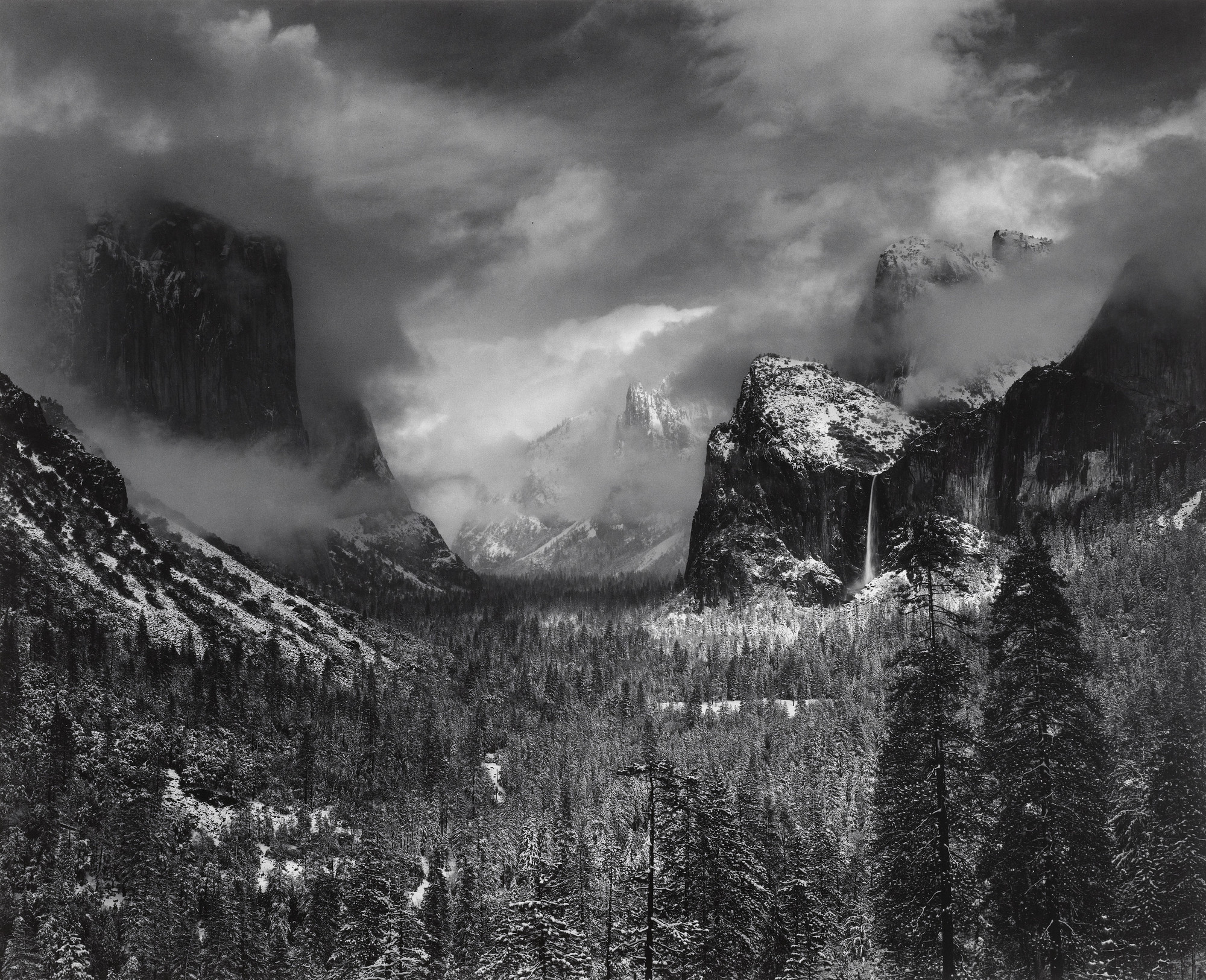 Ansel Adams. Clearing Winter Storm, Yosemite National Park, California. 1944