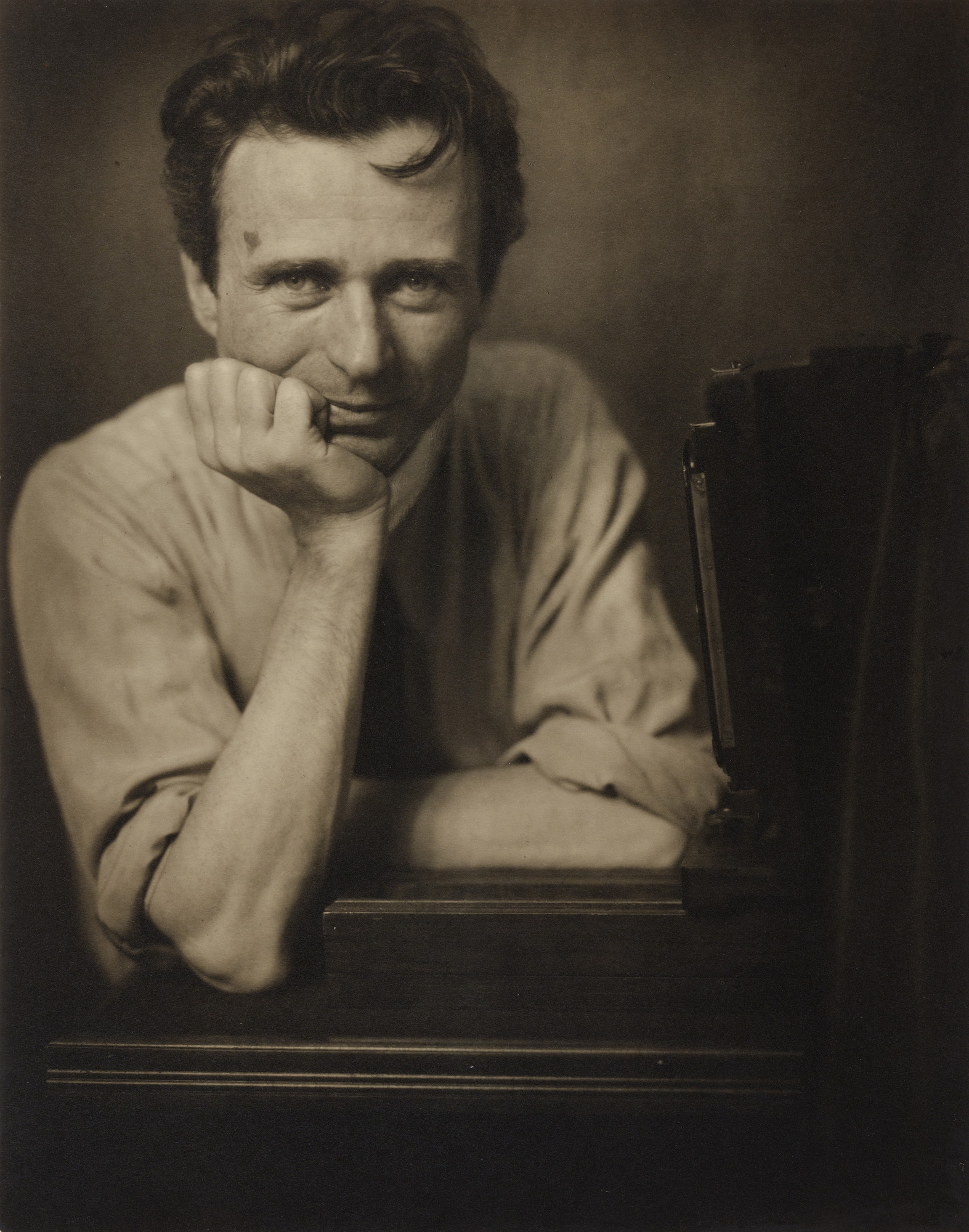Edward Steichen. Self-Portrait with Studio Camera. c. 1917