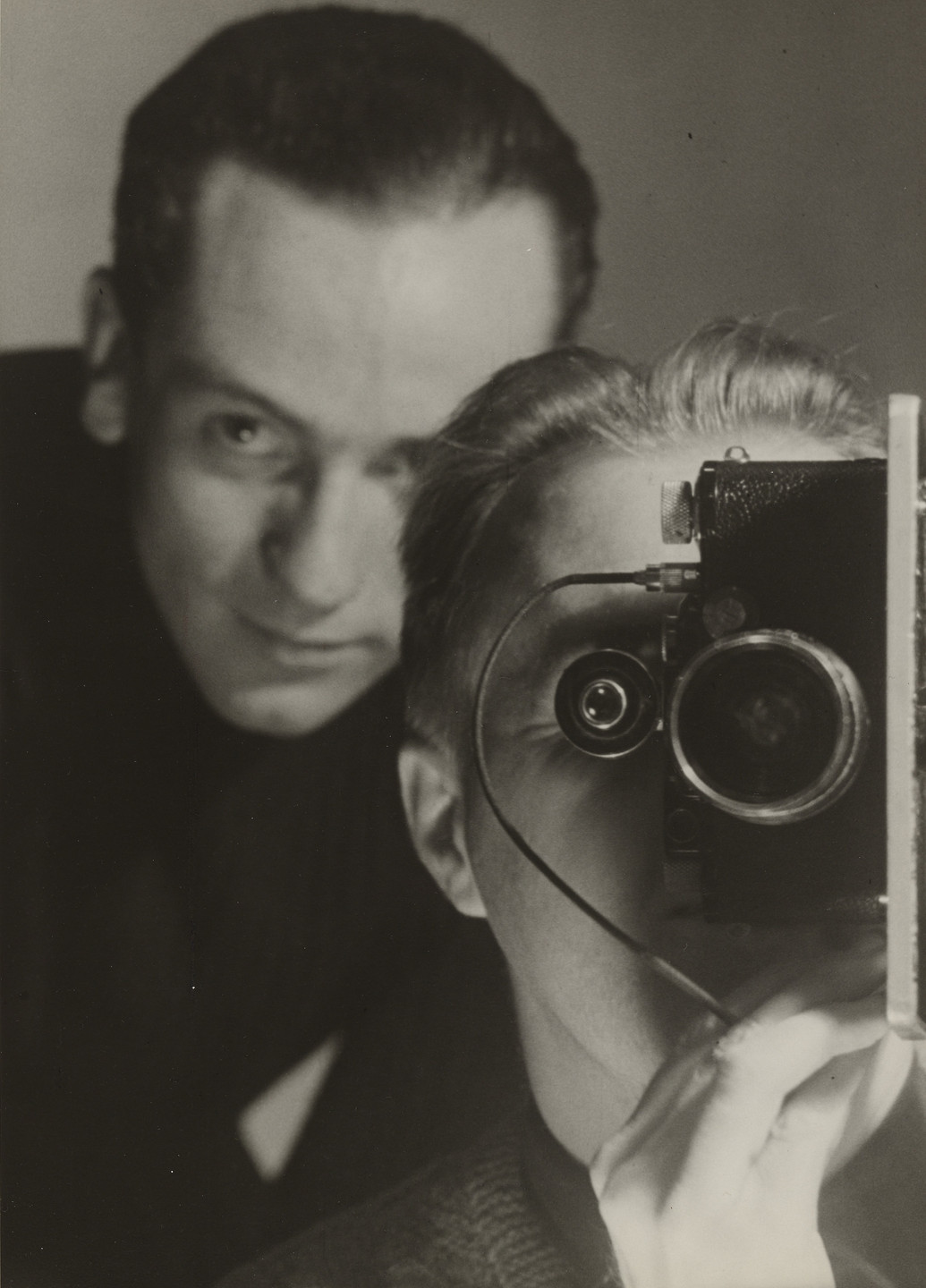 Maurice Tabard. Untitled (Self-Portrait with Roger Parry). c. 1936