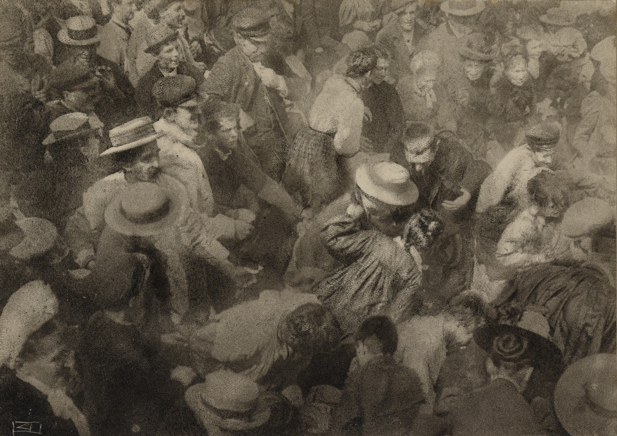Robert Demachy. The Crowd. 1910