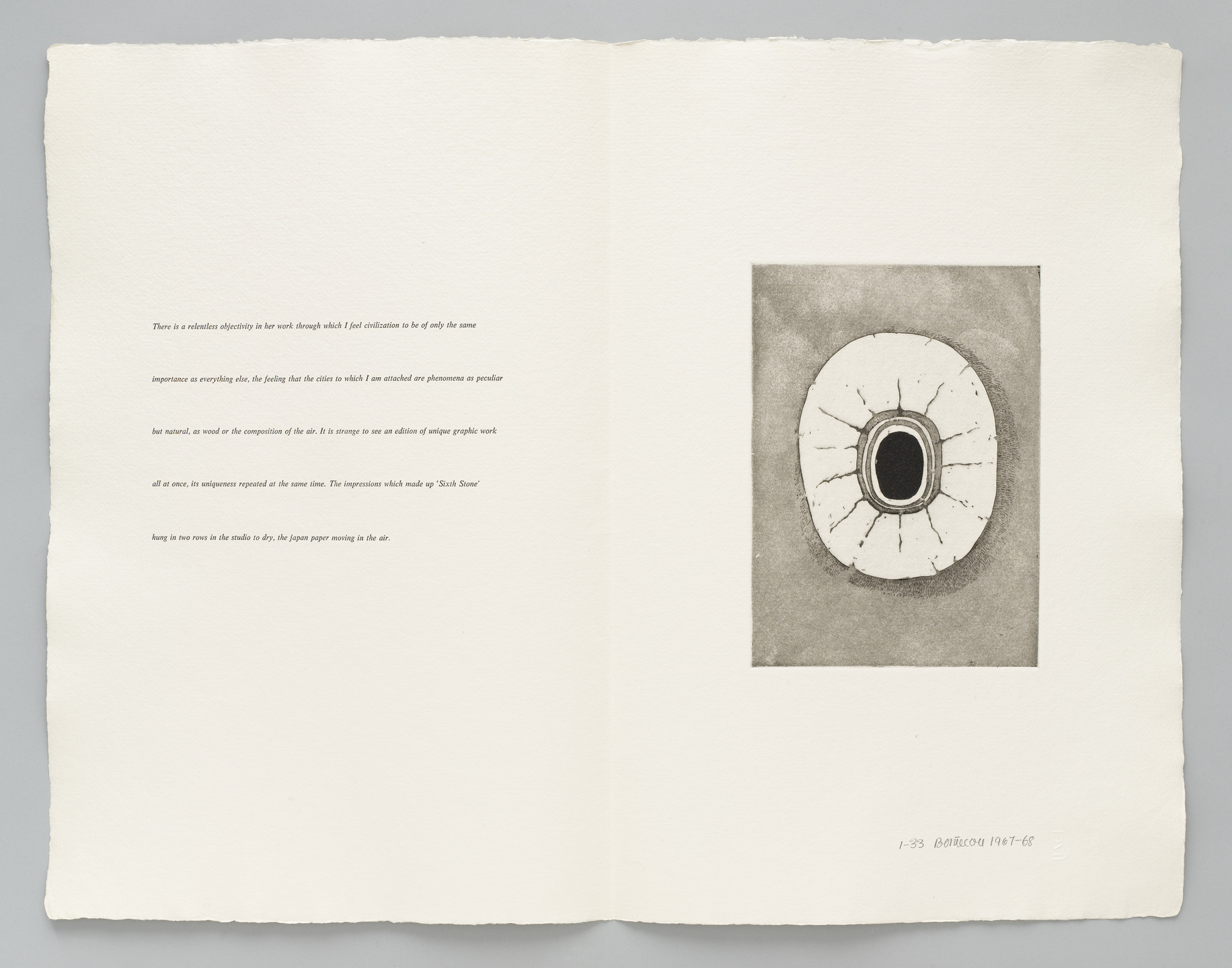 Lee Bontecou. Plate 4 (folio 10) from Fifth Stone, Sixth Stone. 1967–68, published 1968