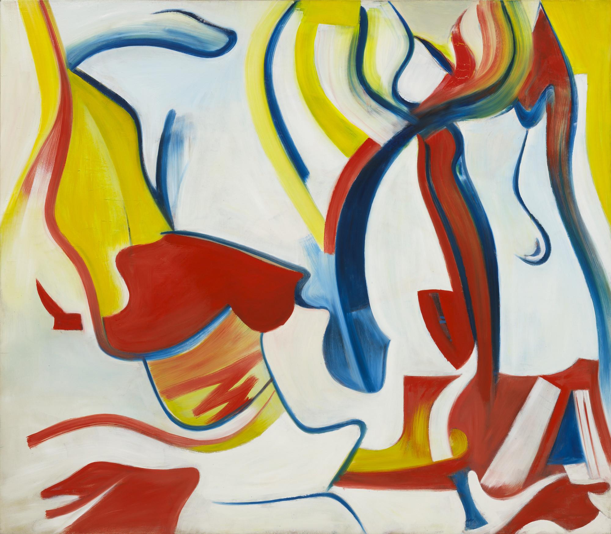 Willem de Kooning. Rider (Untitled VII). 1985