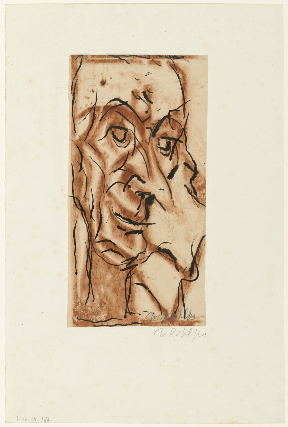 Christian Rohlfs. Man with Pointed Nose (Mann mit spitzer Nase). (1921)