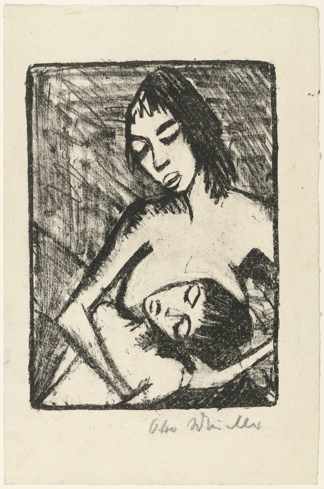 Otto Mueller. Mother and Child 2 (Small Version) (Mutter und Kind 2 [kleine Fassung]). (1920, published 1921)